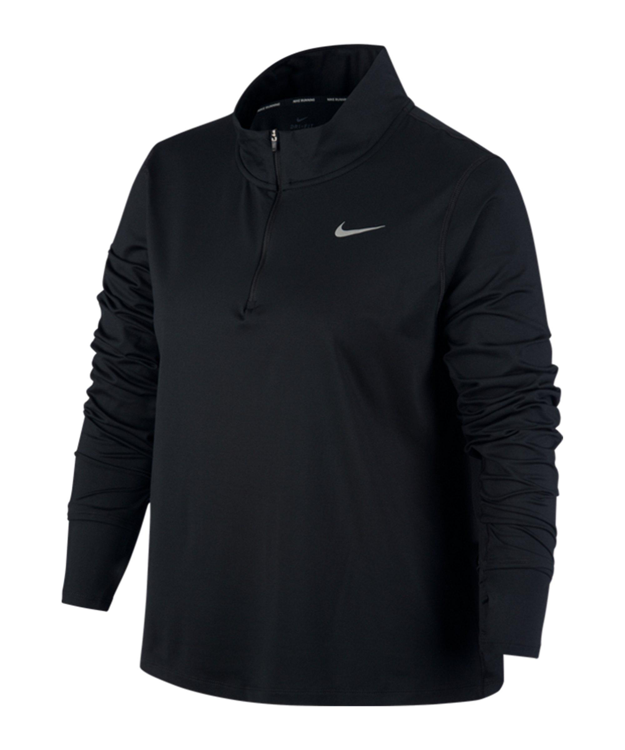 Nike Element Drill Top Running Damen Schwarz F010 - schwarz