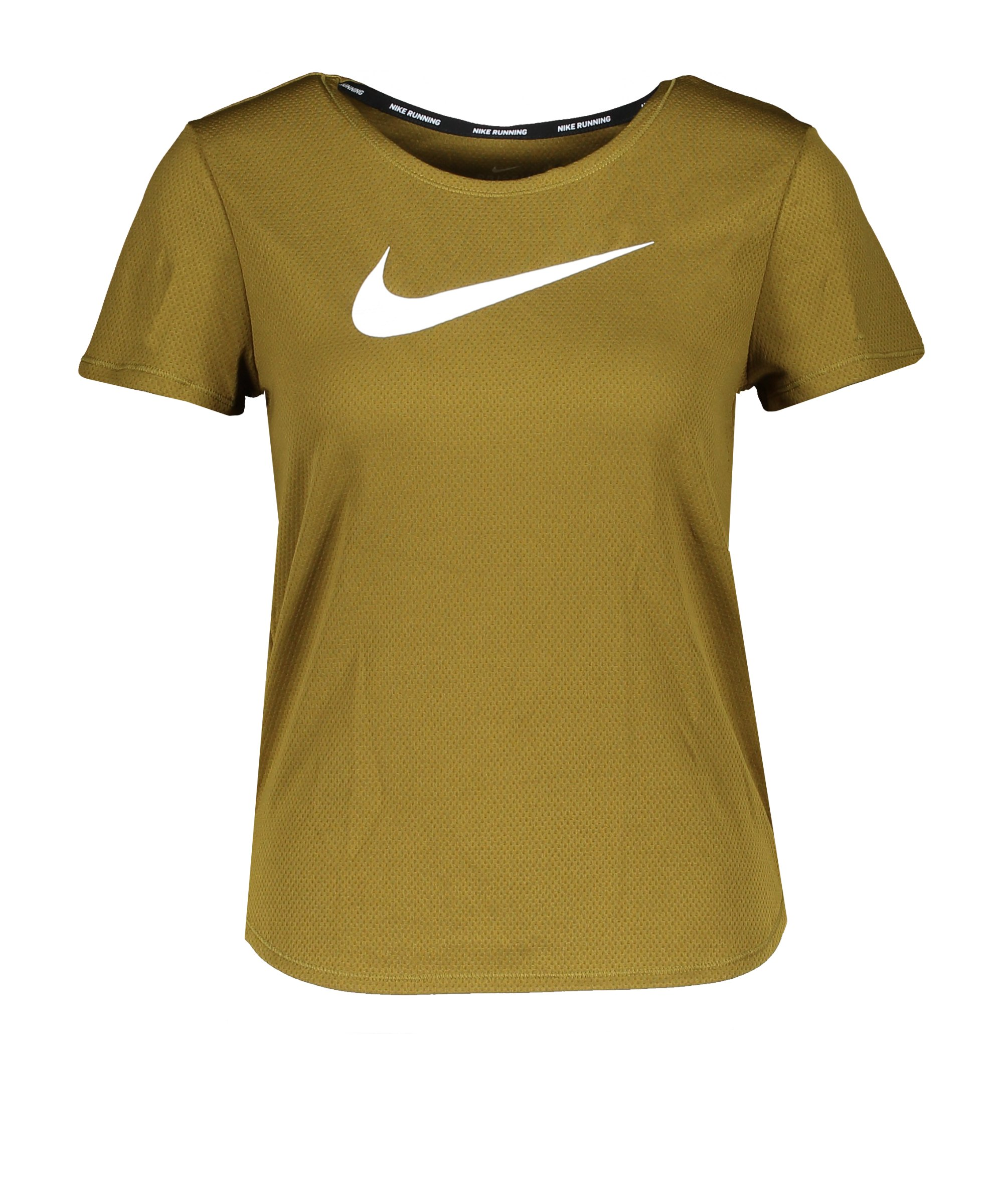 Nike Swoosh T-Shirt Running Damen Grün F368 - gruen