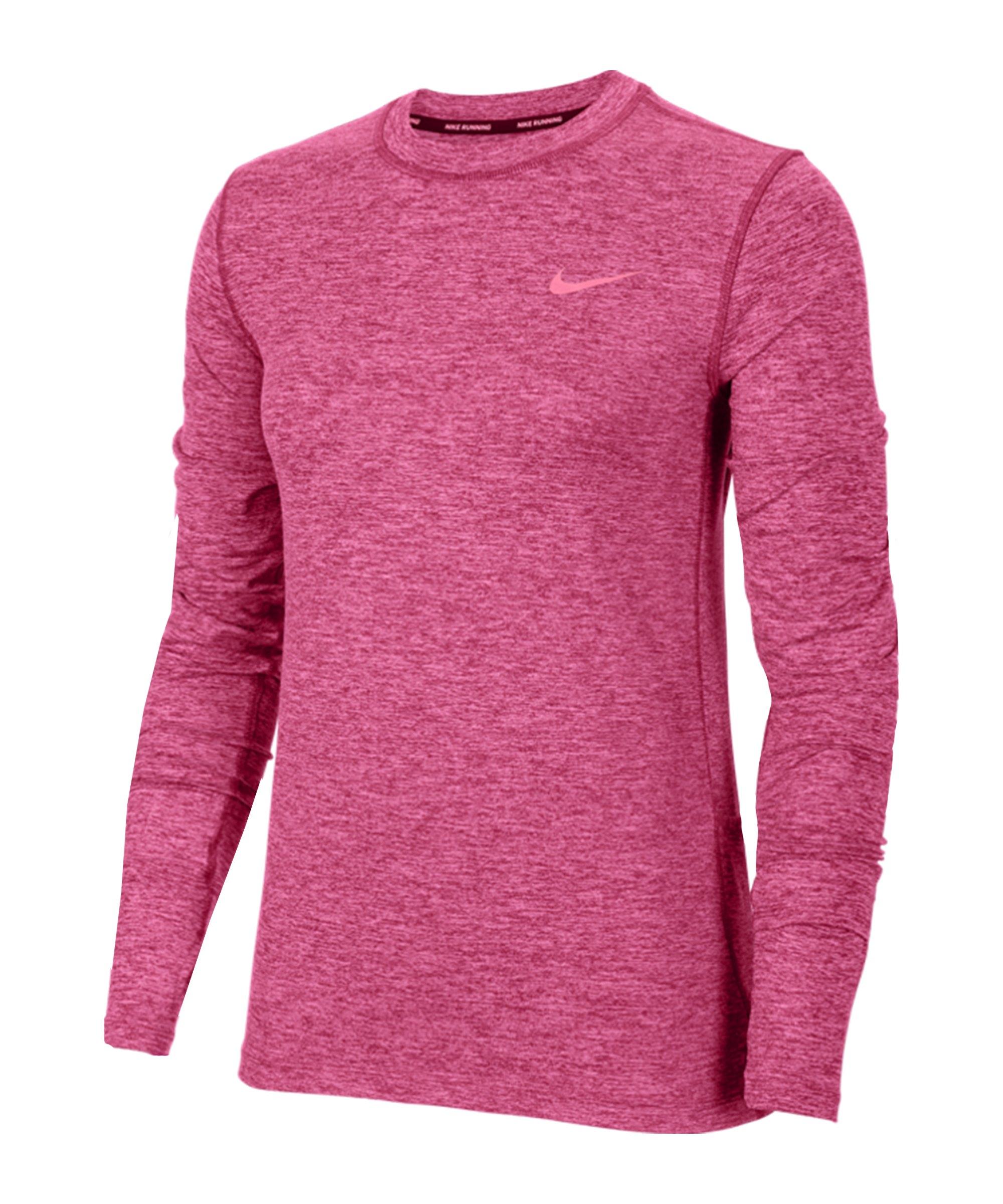 Nike Element Crew Sweatshirt Running Damen F615 - pink
