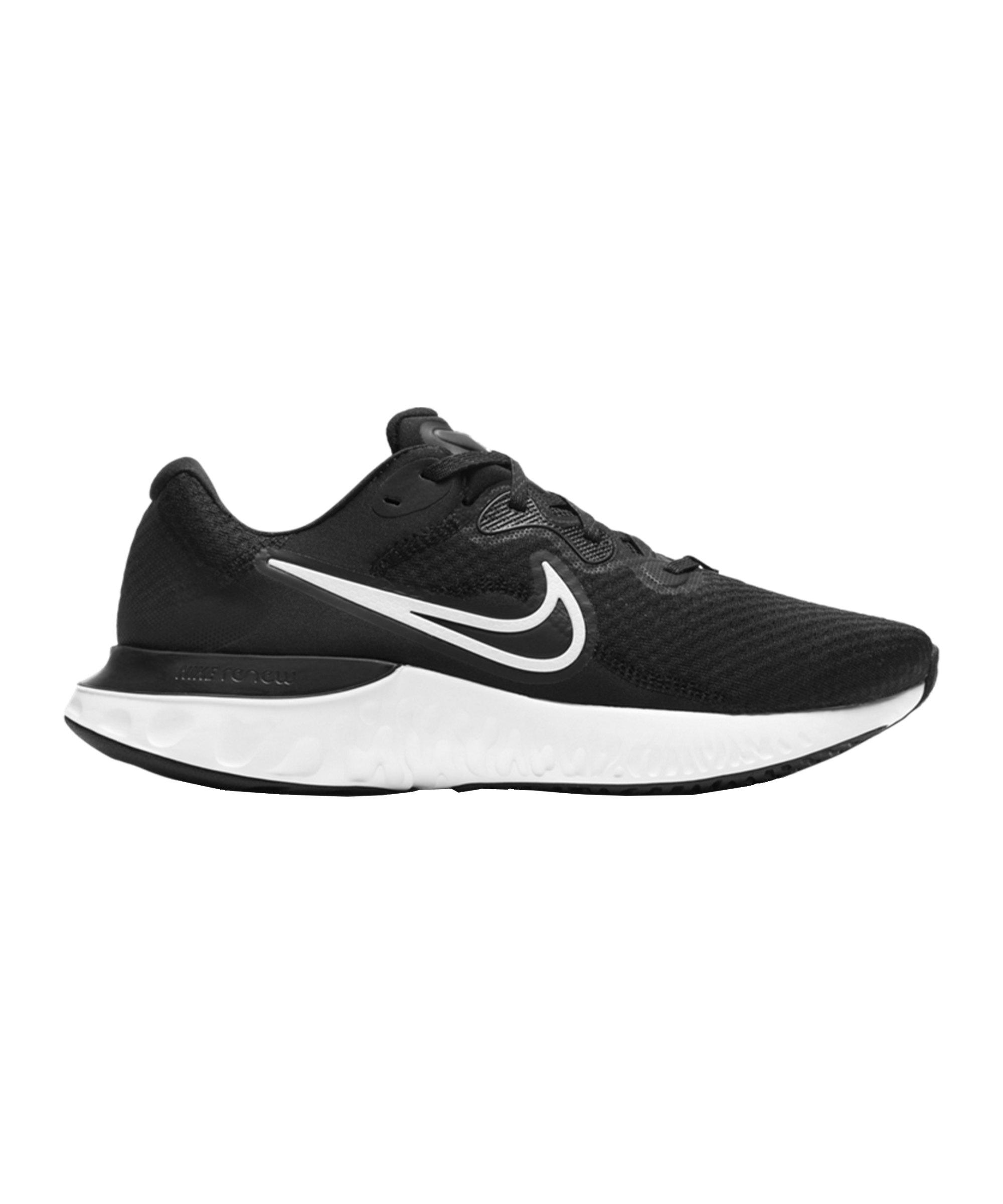 Nike Renew Run 2 Running Schwarz Weiss Grau F005 - schwarz