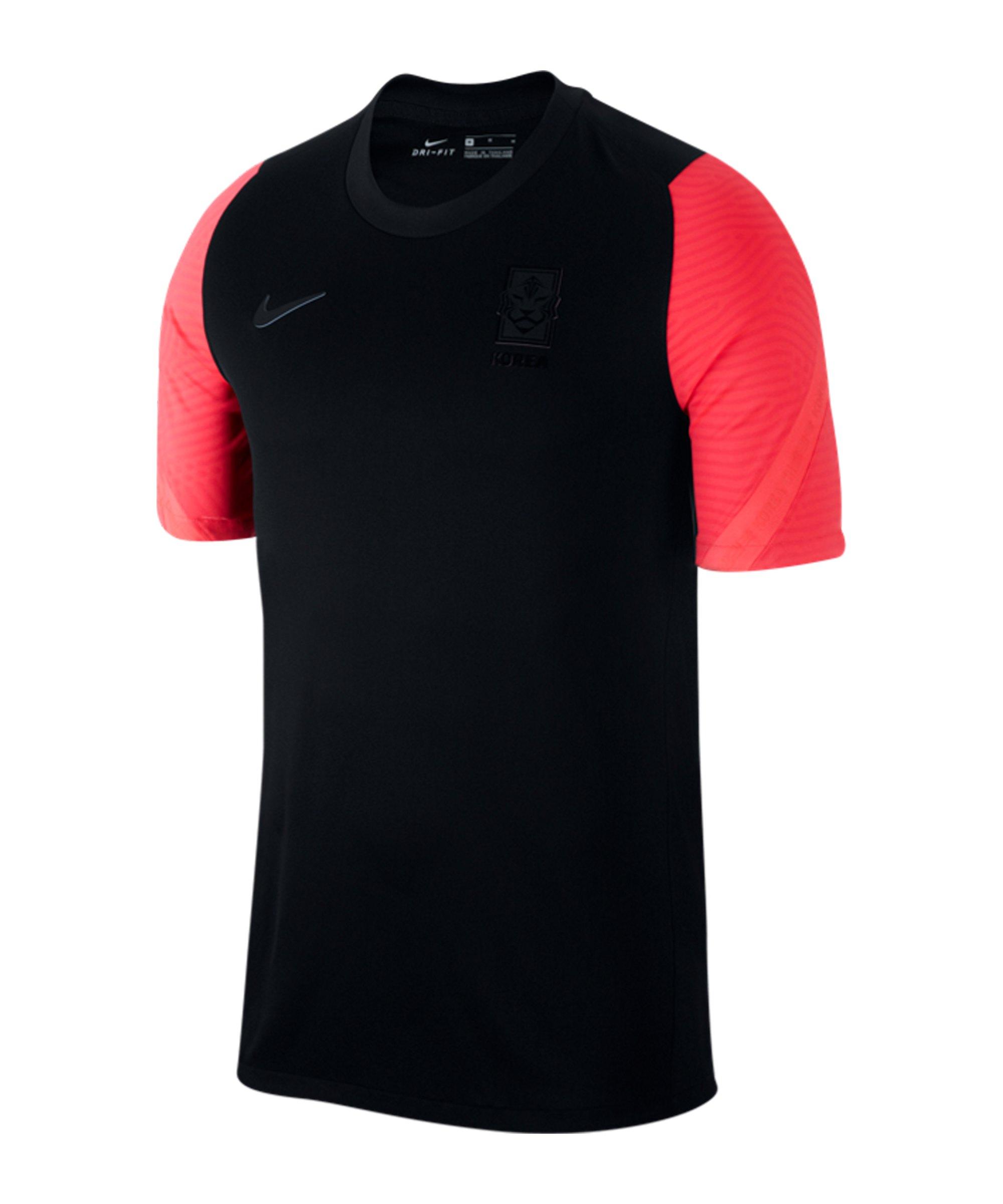 Nike Südkorea Strike Trainingstop kurzarm F010 - schwarz