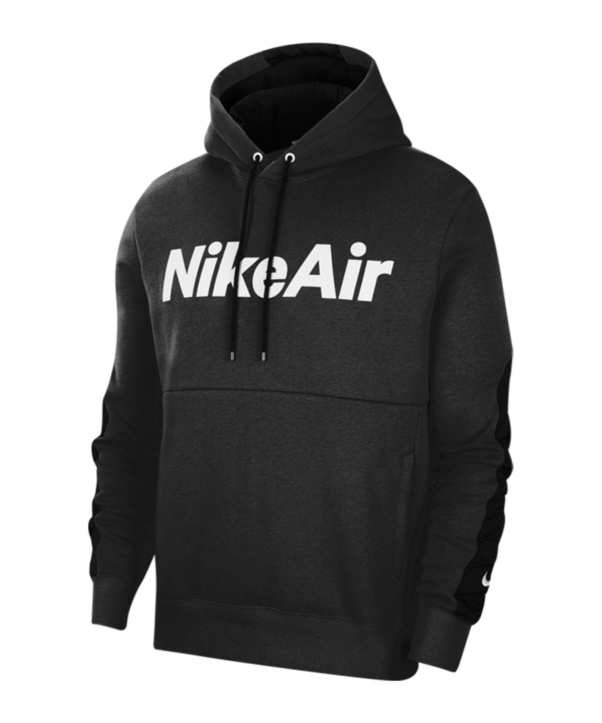 Nike Air Fleece Hoody Schwarz F010 - schwarz