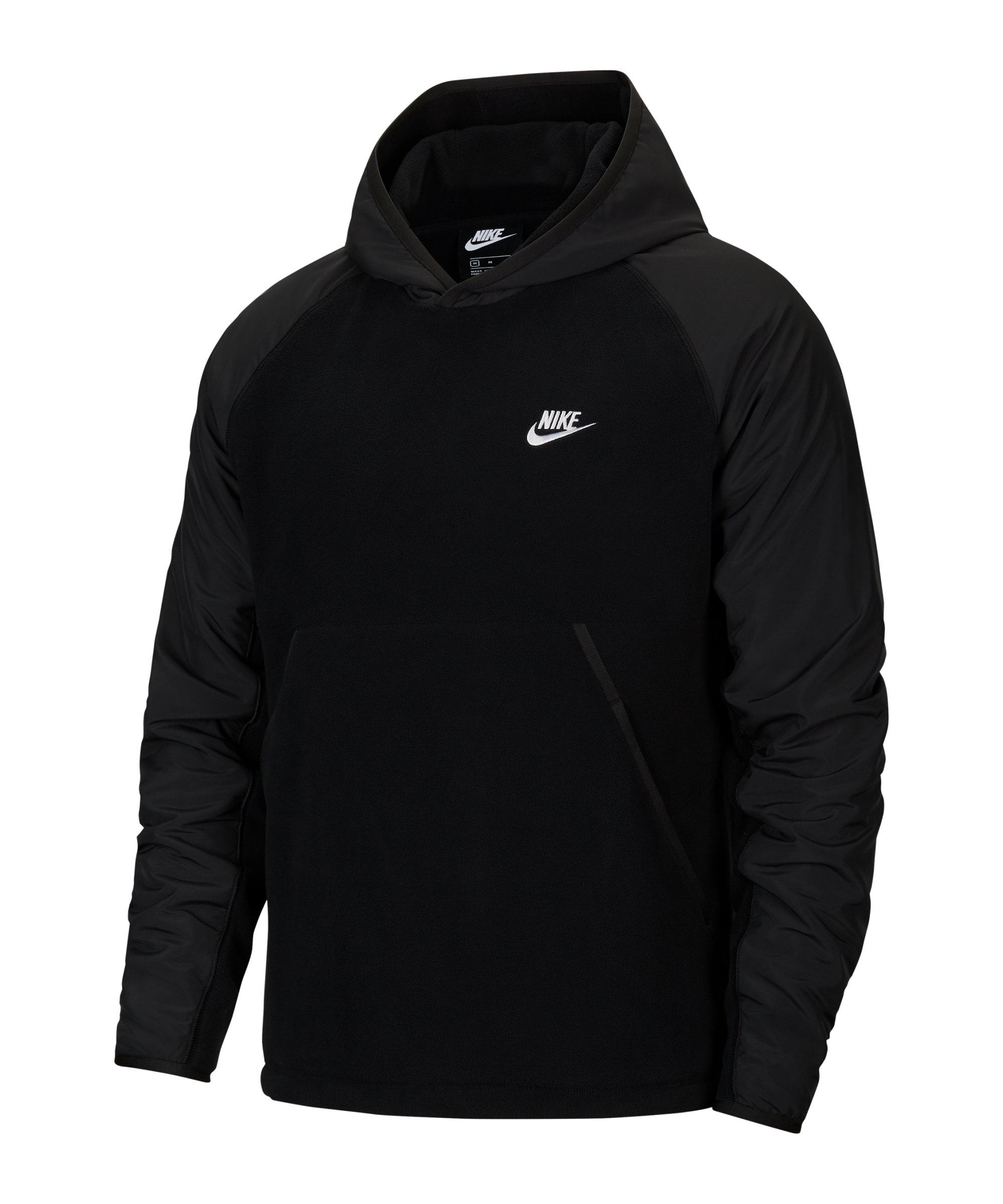 Nike Fleece Winter Hoody Schwarz F010 - schwarz
