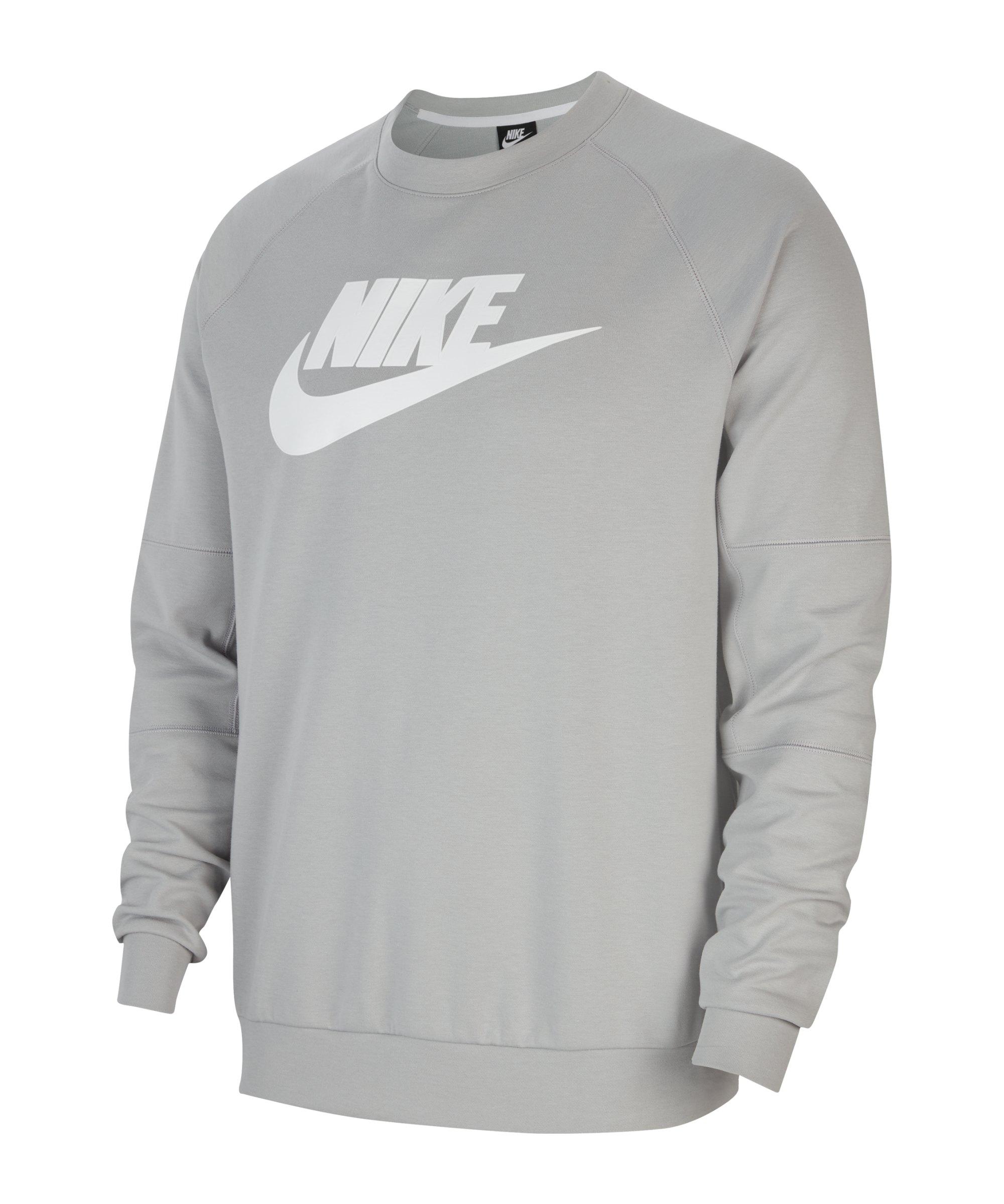 Nike Modern Fleece Crew Sweatshirt Grau F077 - grau