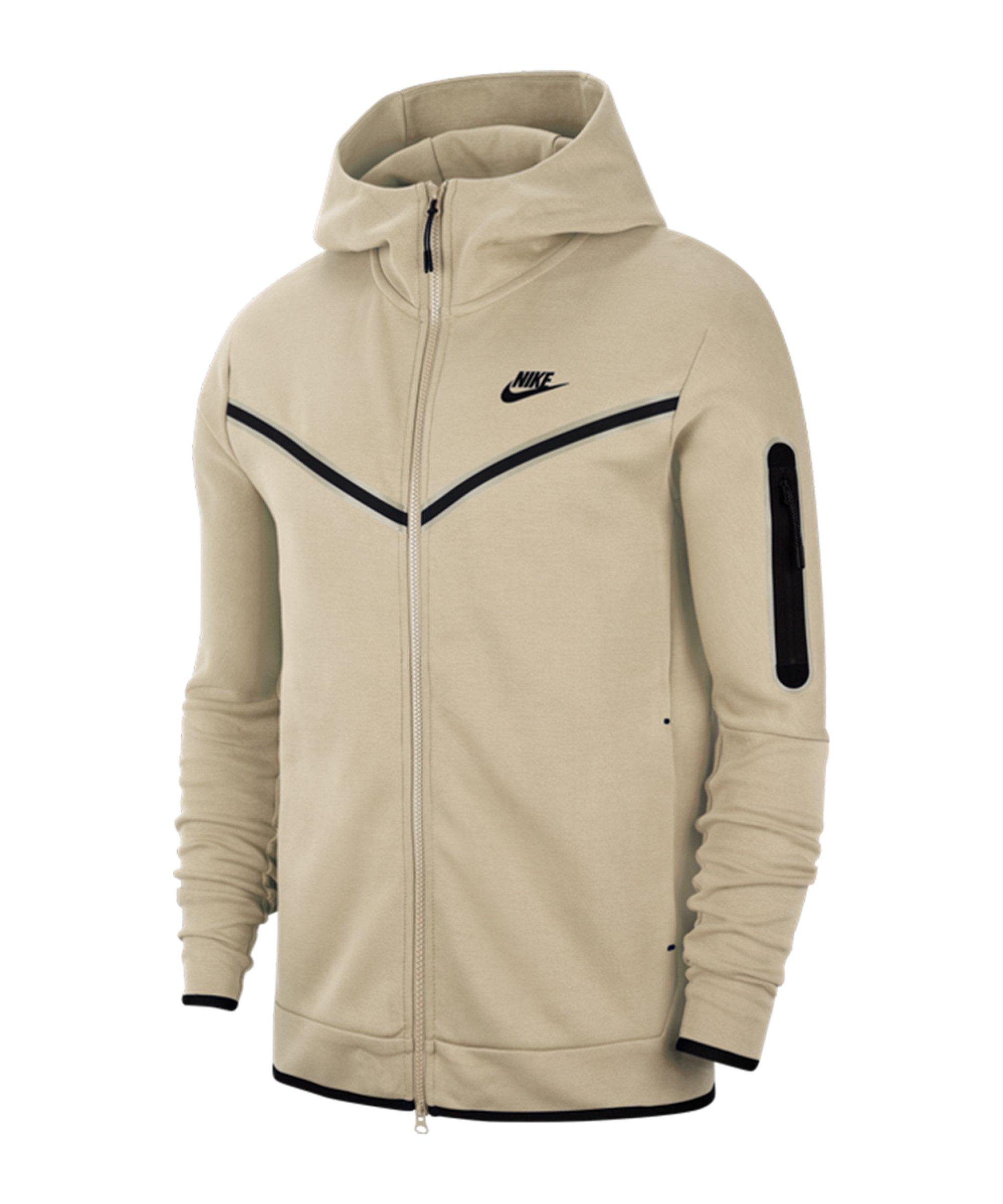 Nike Tech Fleece Kapuzenjacke Beige F072 - beige