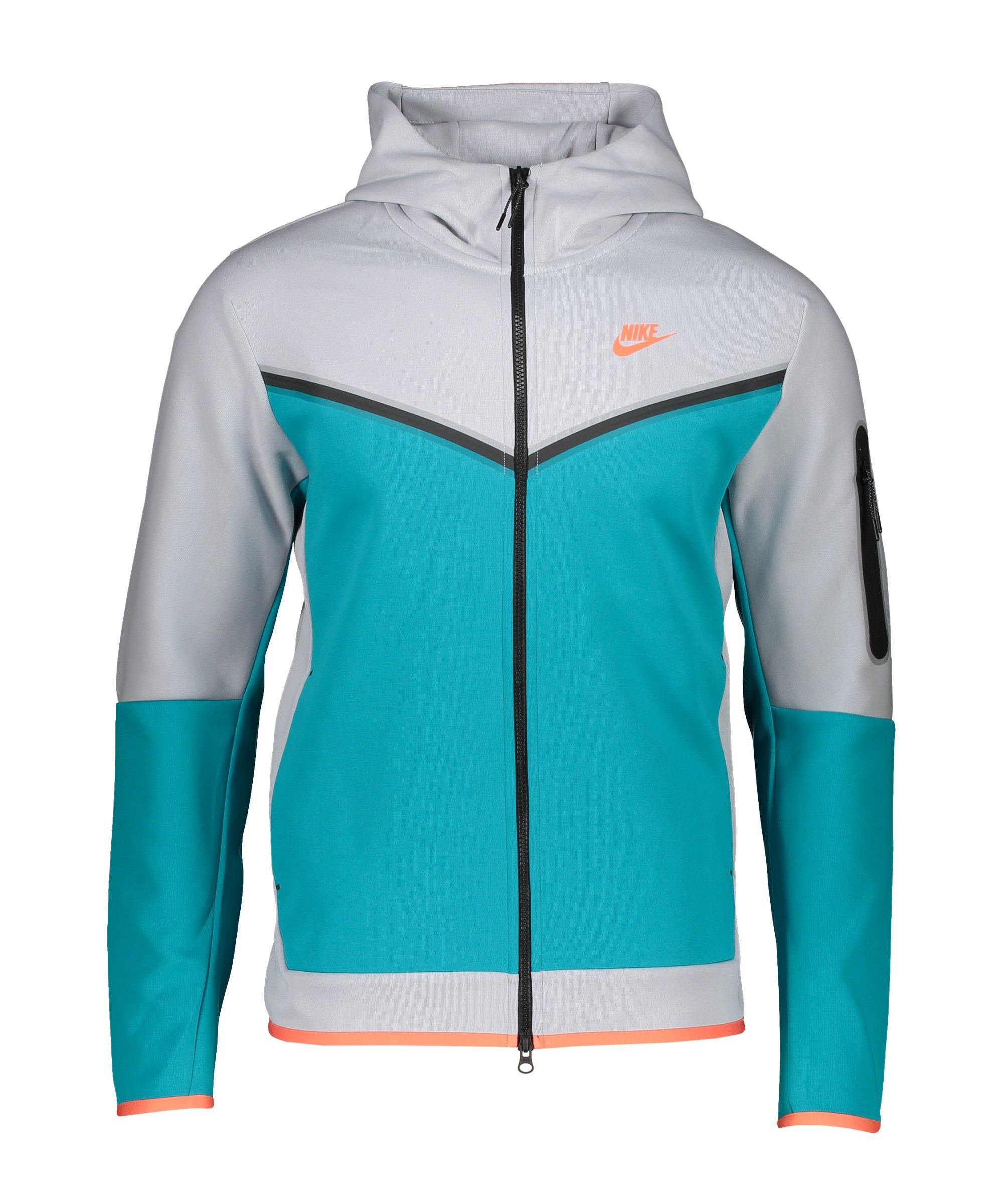 Nike Tech Fleece Windrunner Grau Blau F012 - tuerkis