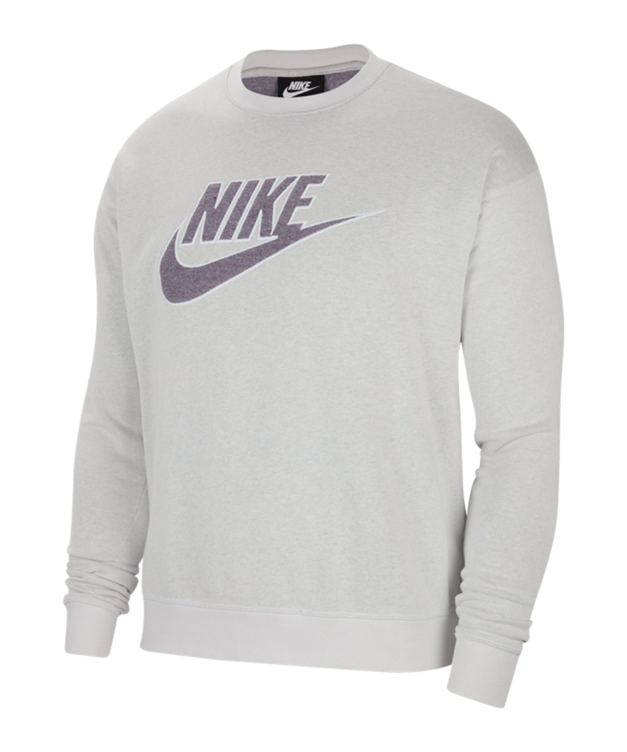 Nike Essentials Grid-Graphic Sweatshirt Grau F910 - grau