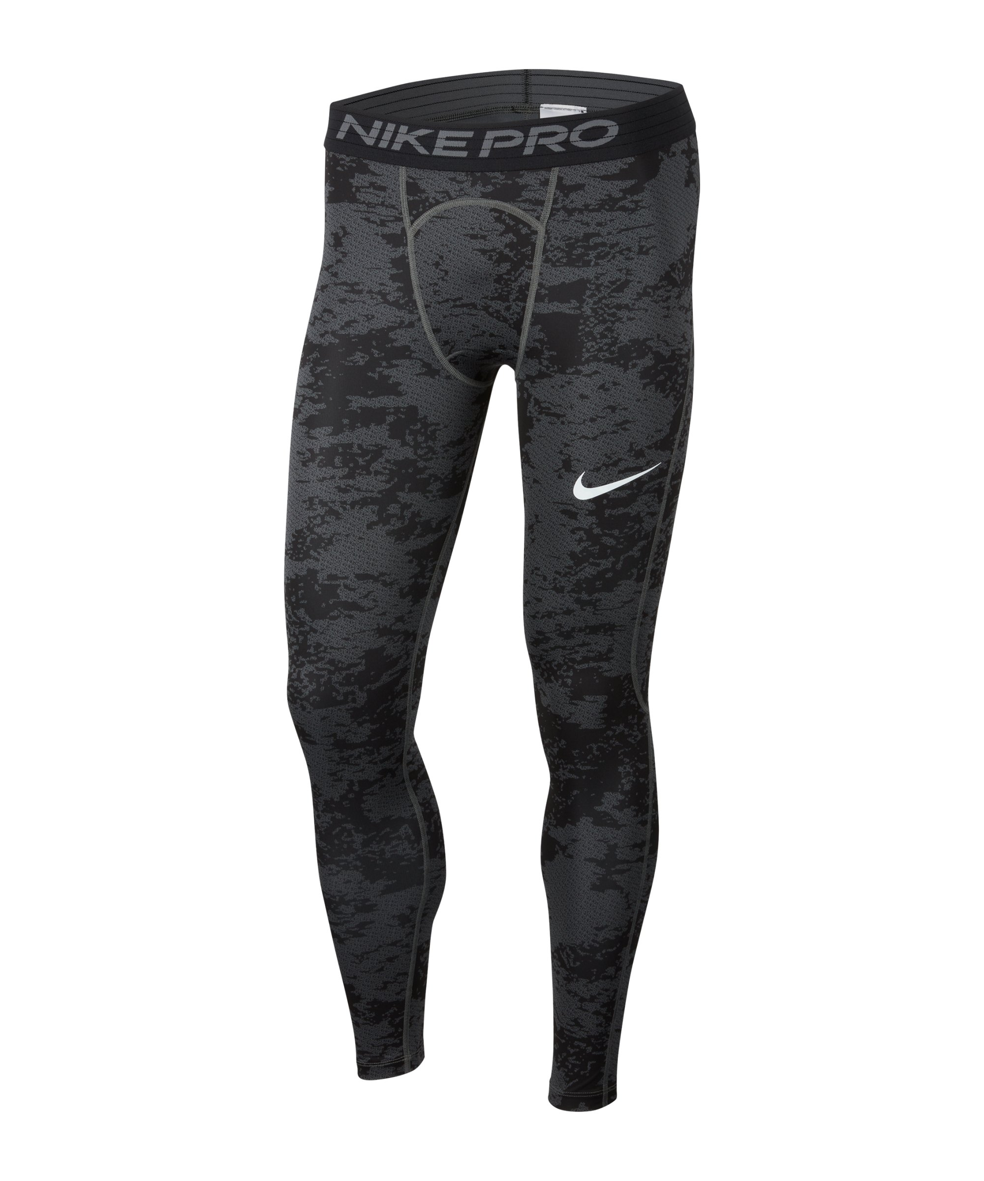 Nike Pro Camo AOP Tight Grau F068 - grau