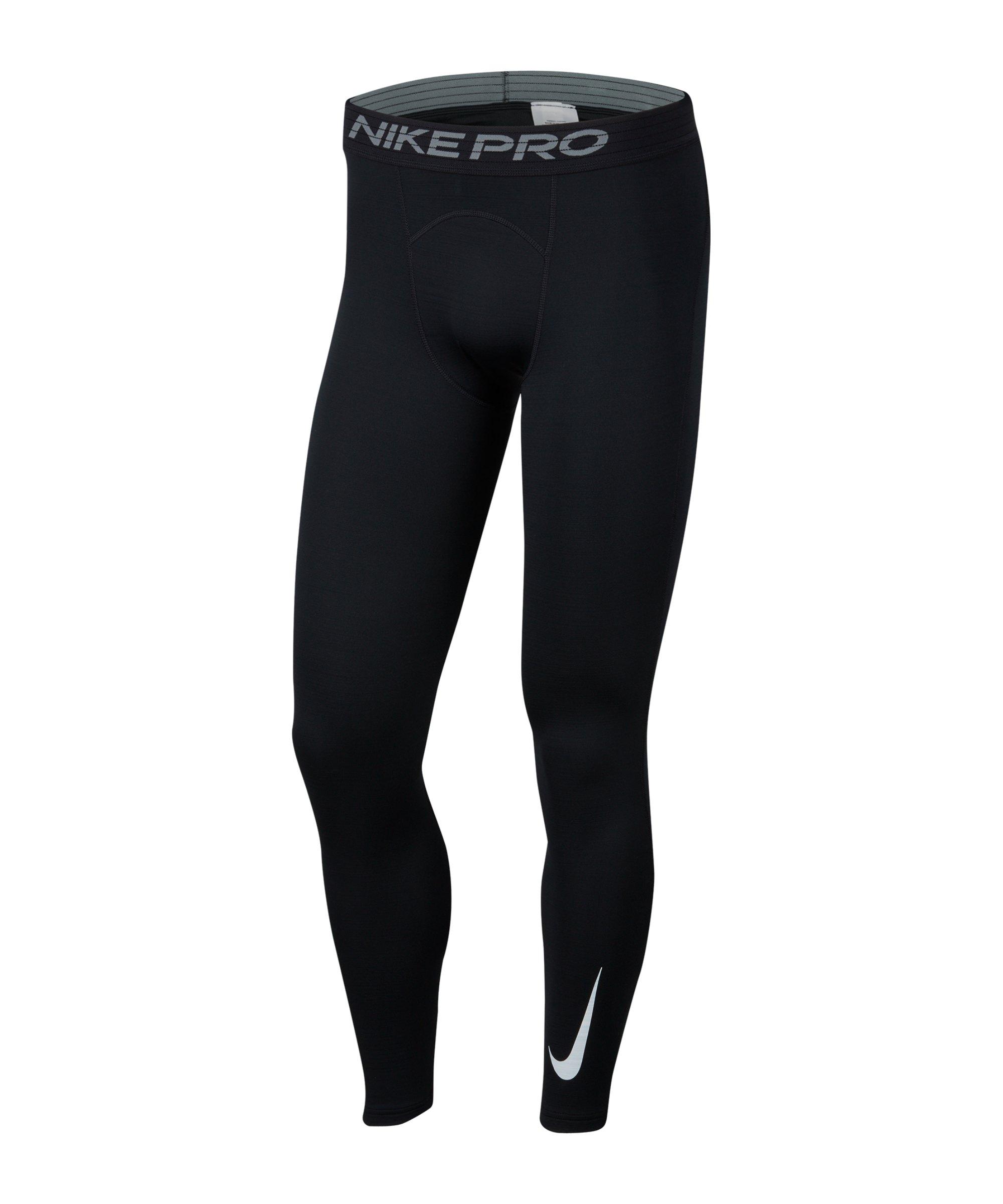 Nike Pro Warm Tight Schwarz F010 - schwarz