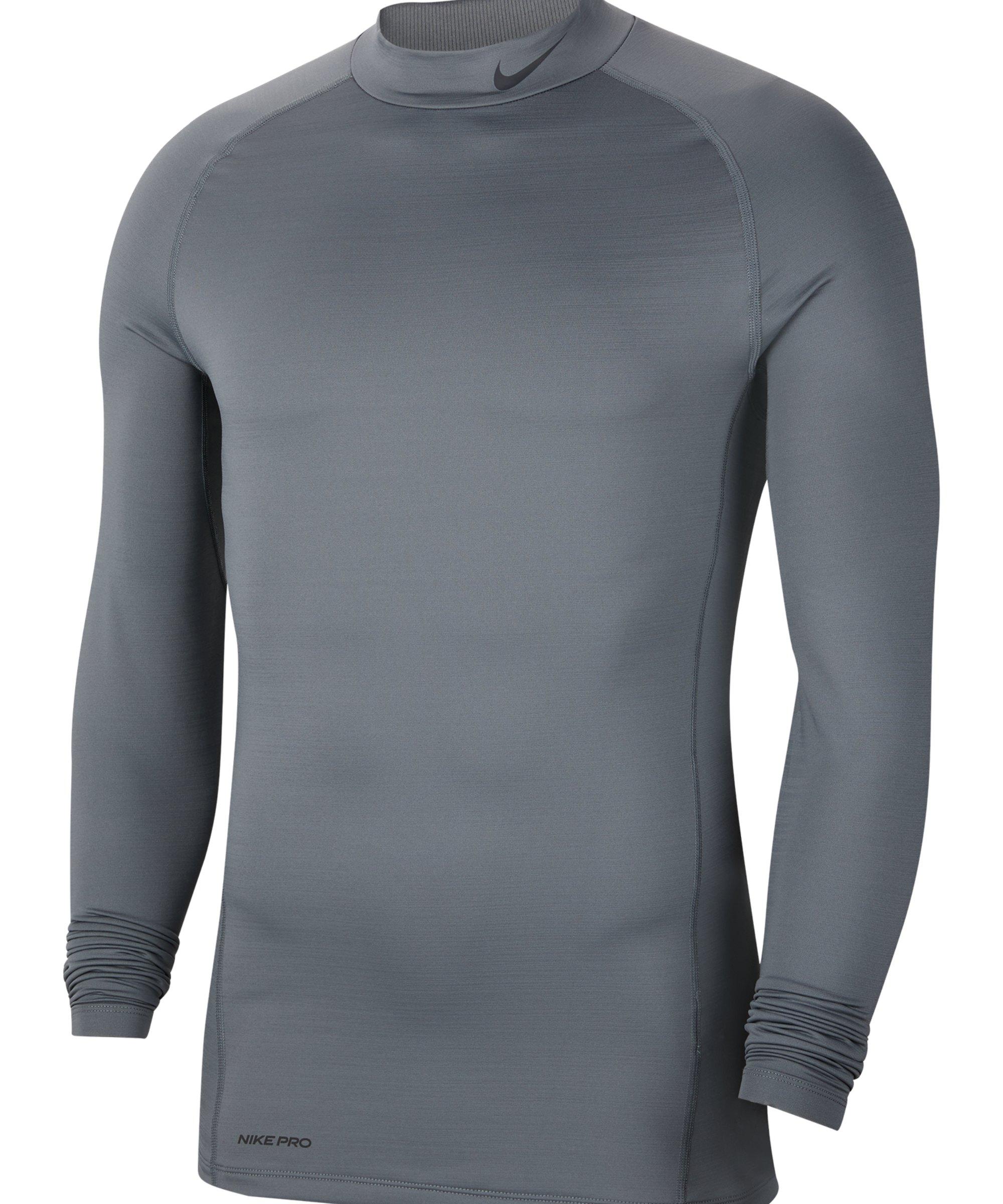 Nike Pro Warm Top Mock Grau F068 - grau