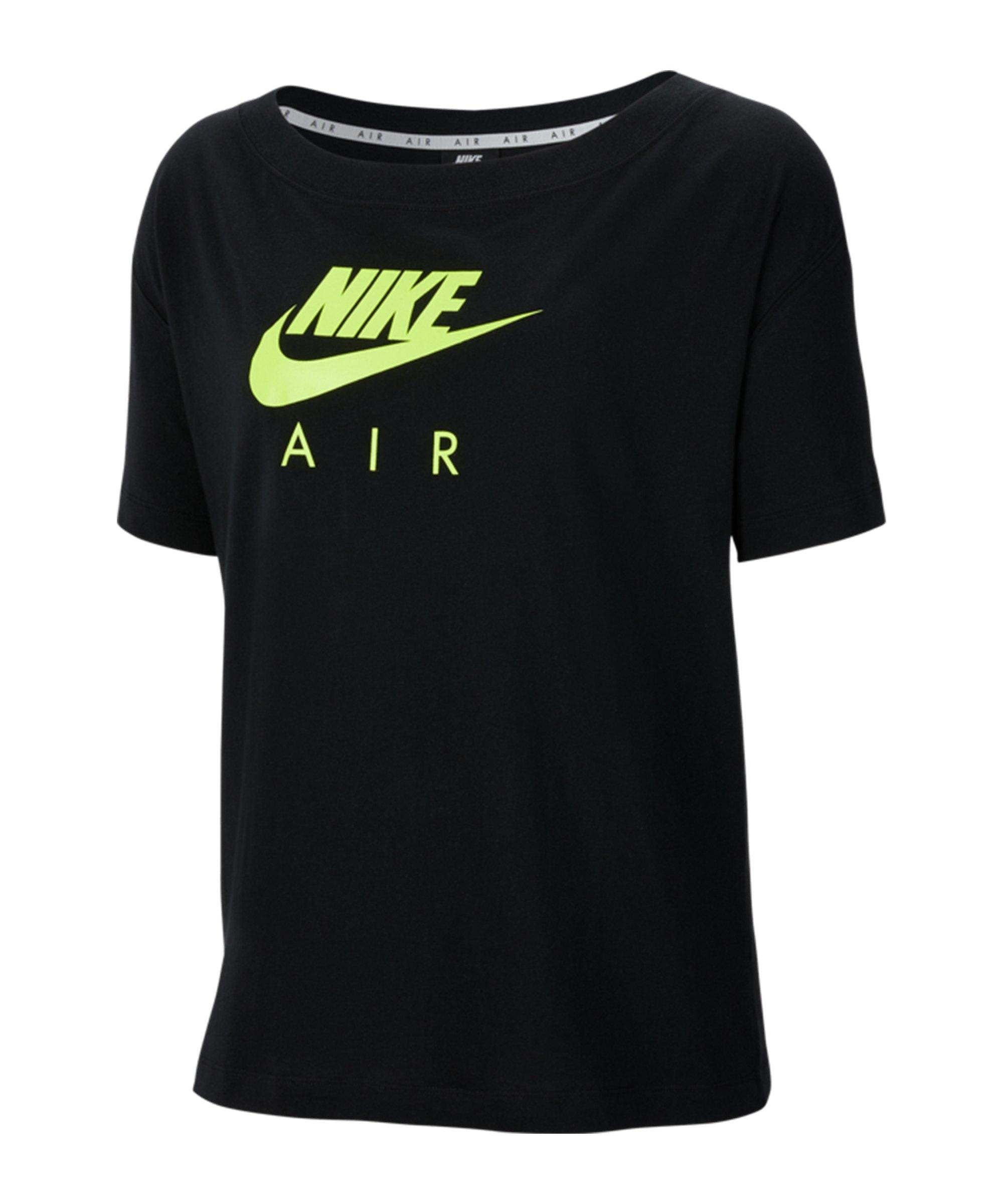 Nike Air T-Shirt Damen Schwarz F011 - schwarz