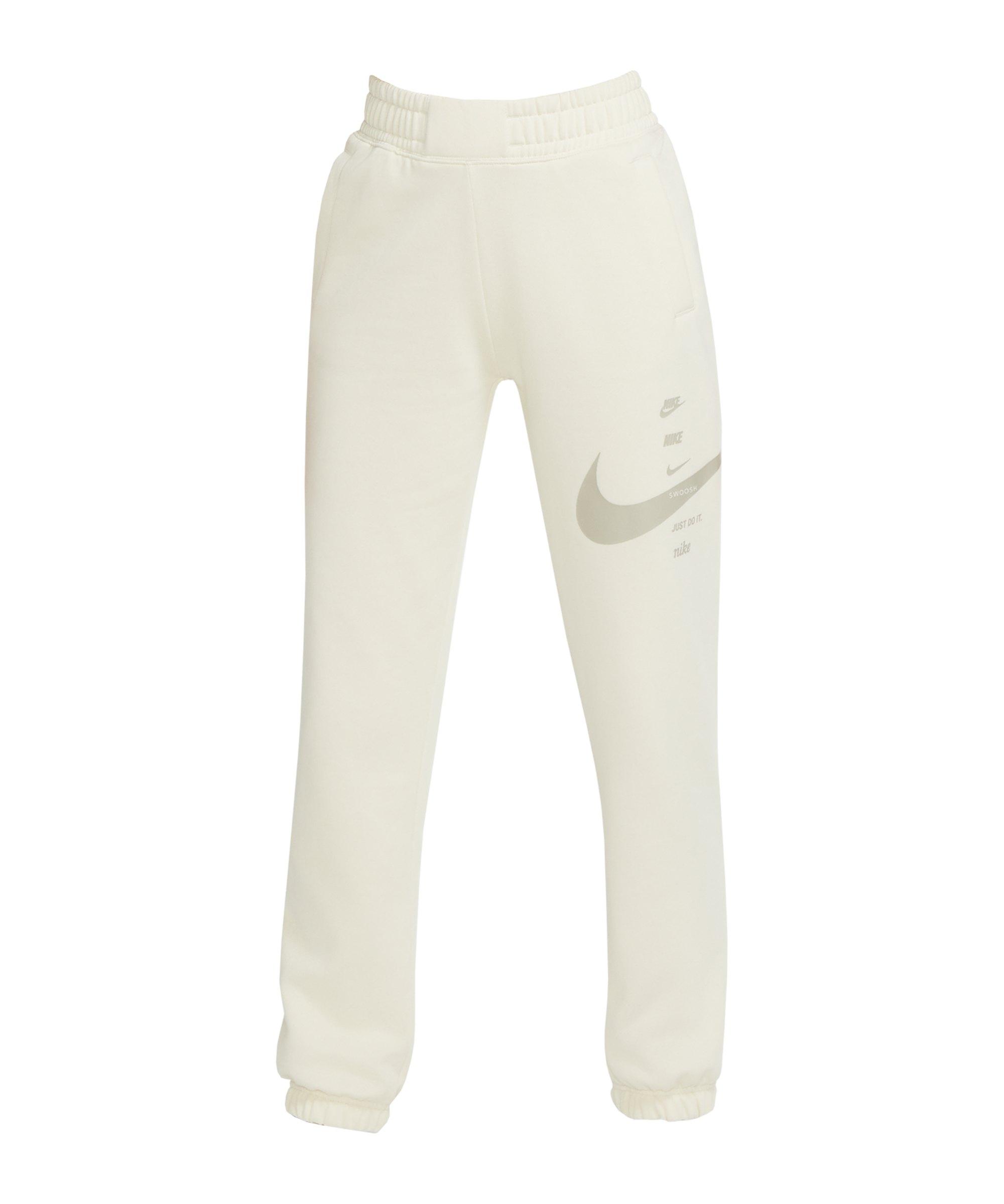 Nike Swoosh Jogginghose Damen Beige F238 - beige