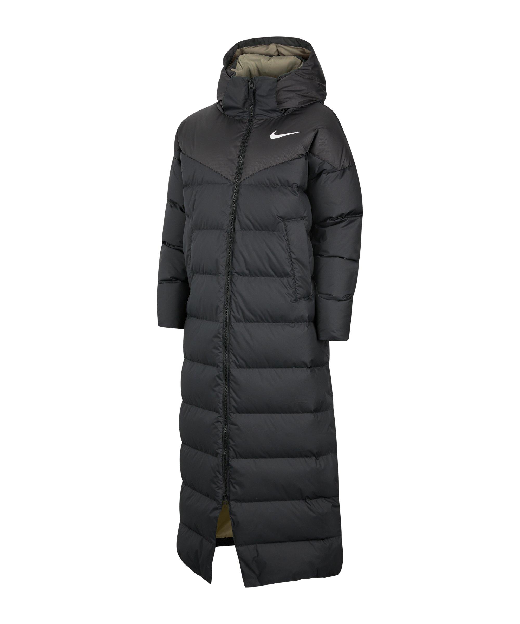 Nike Down Parka Jacke Damen Schwarz F010 - schwarz