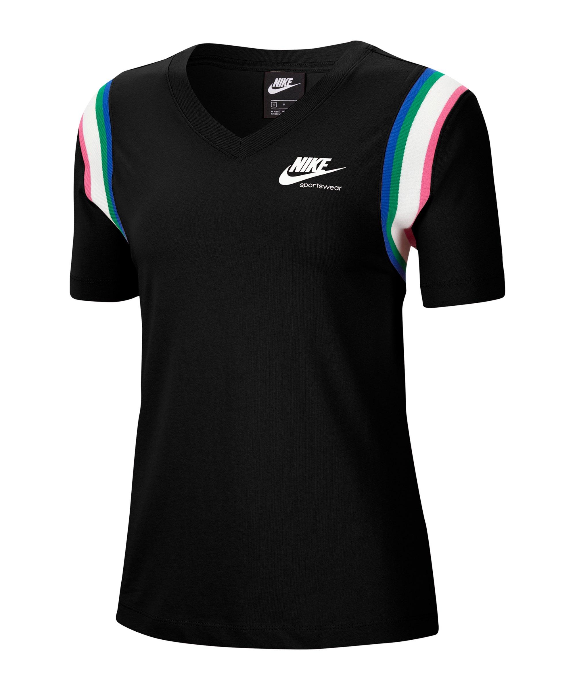 Nike Heritage T-Shirt Damen Schwarz F010 - schwarz