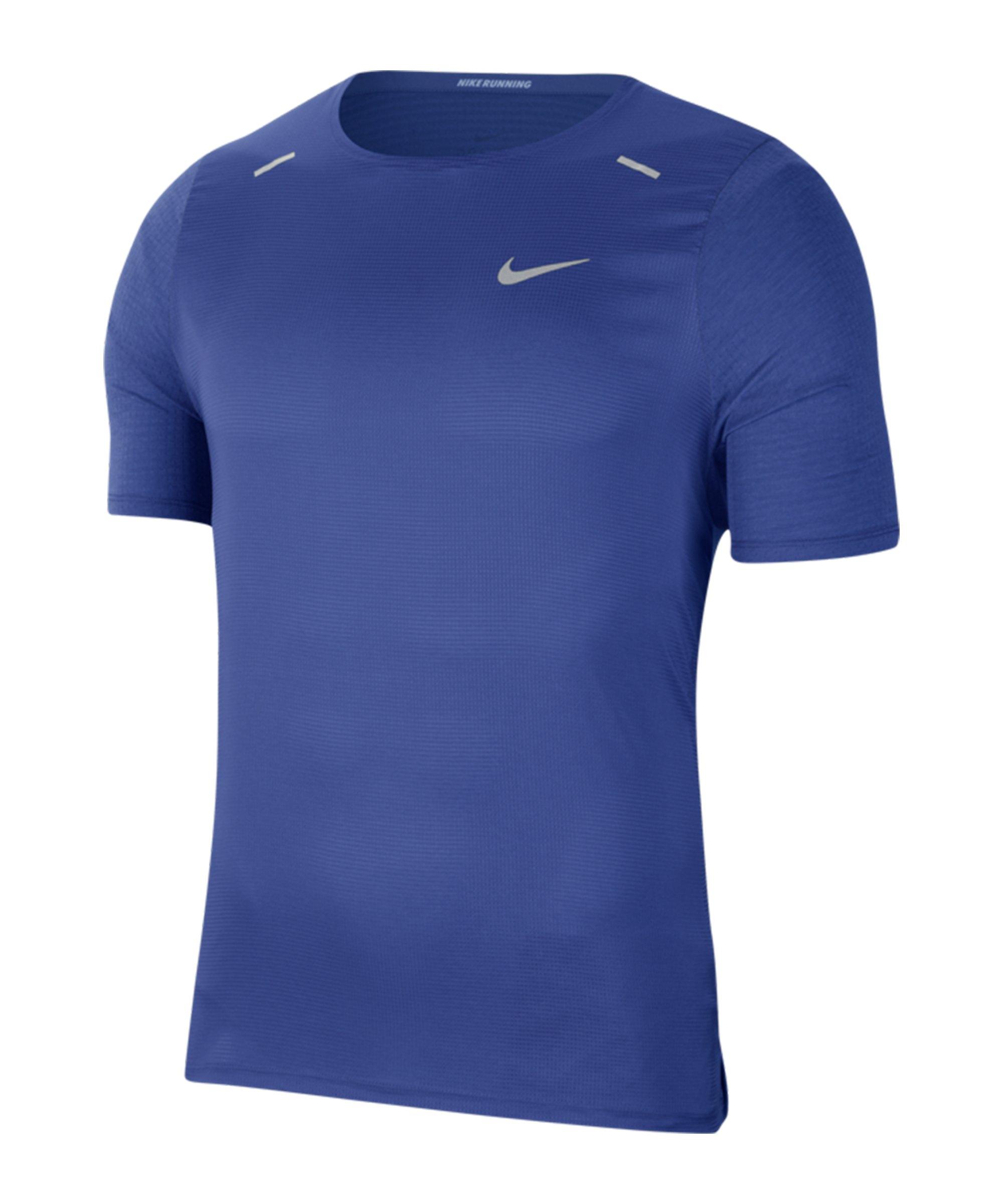 Nike Breathe Rise 365 T-Shirt Running Blau F430 - blau