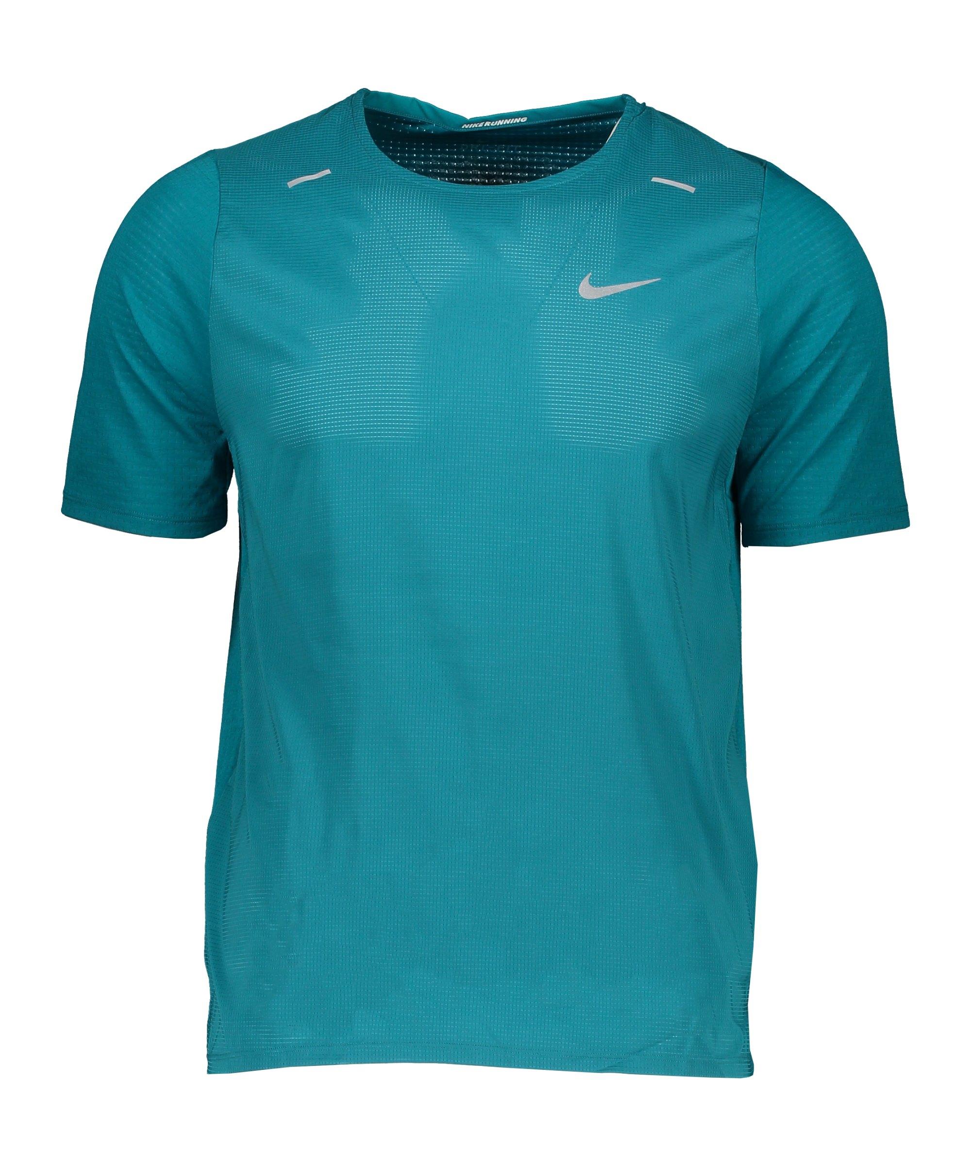 Nike Breathe Rise 365 T-Shirt Running Blau F467 - blau