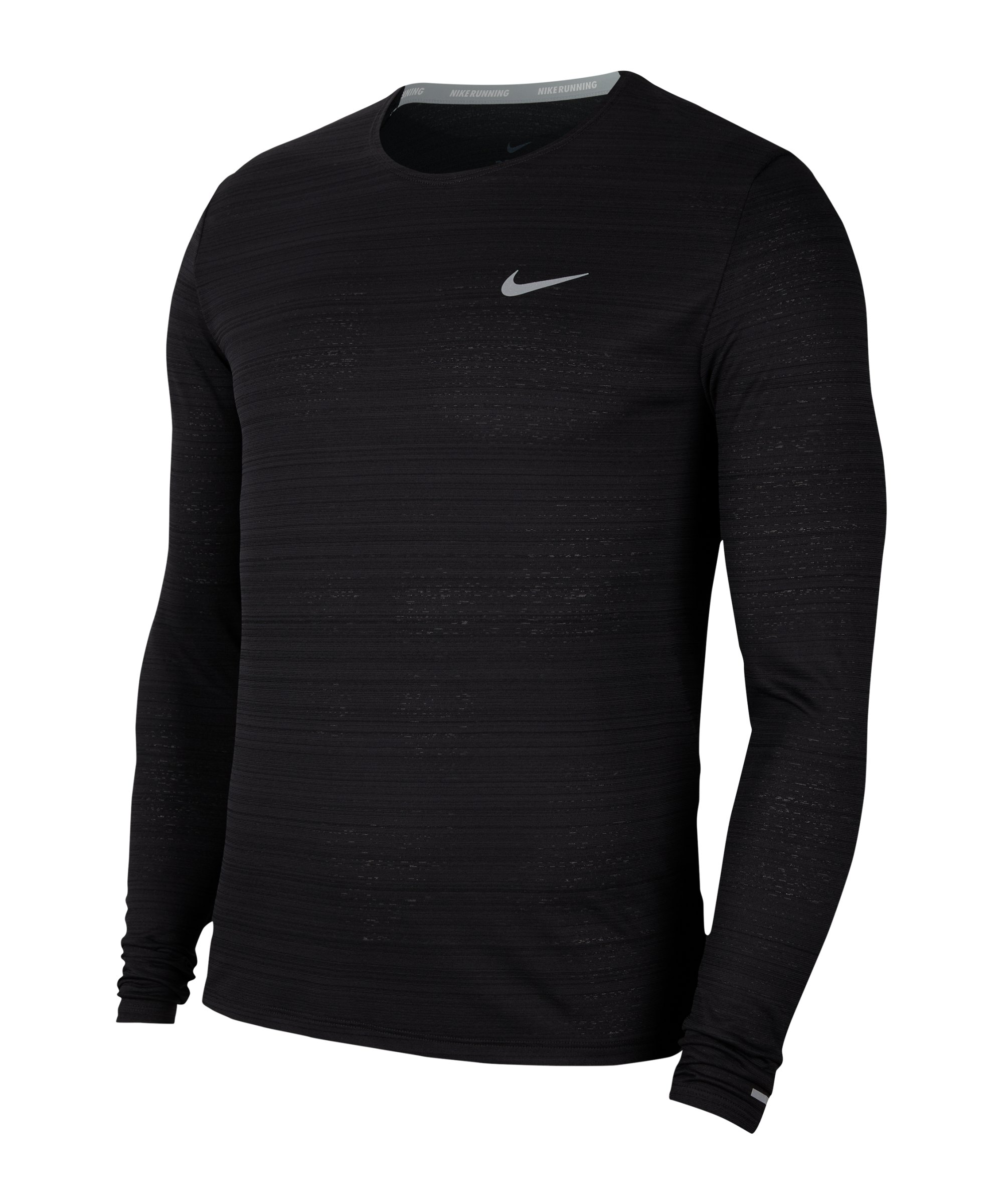 Nike Miler Dri-FIT Top langarm Running F010 - schwarz