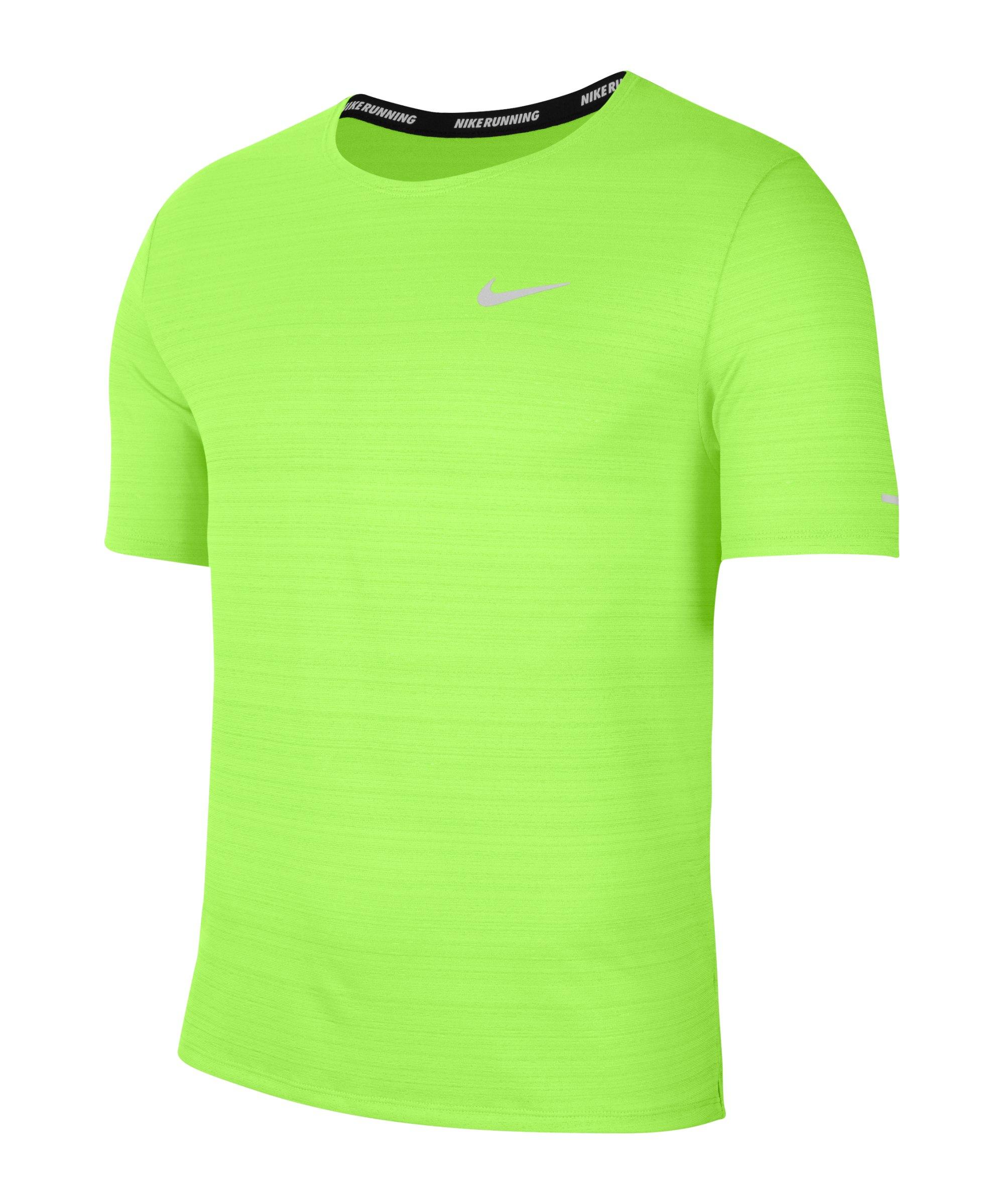 Nike Miler Dri-FIT T-Shirt Running Grün F358 - gruen