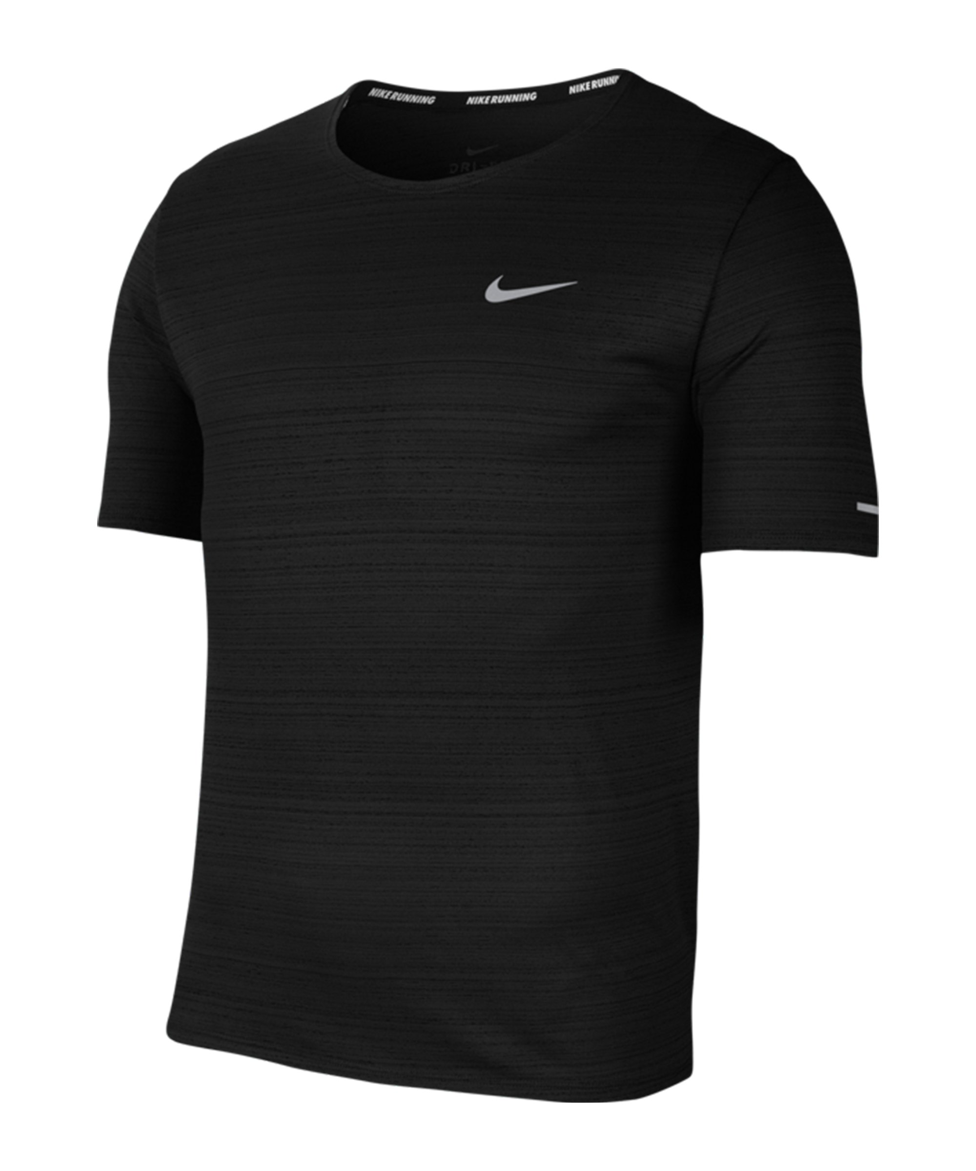 Nike Miler Dri-FIT T-Shirt Running Schwarz F010 - schwarz