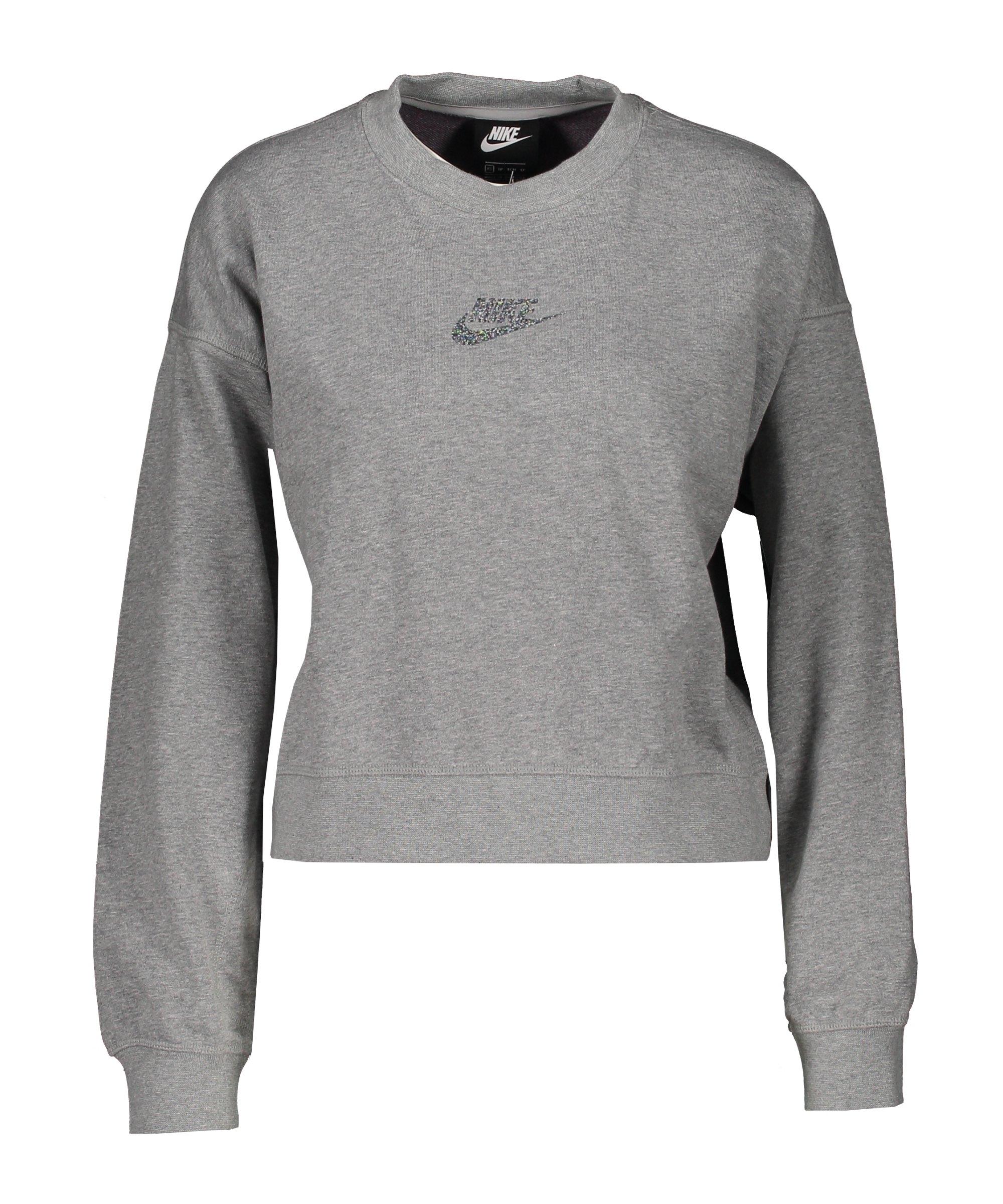 Nike Sportswear Crew Sweatshirt Damen Grau F063 - grau