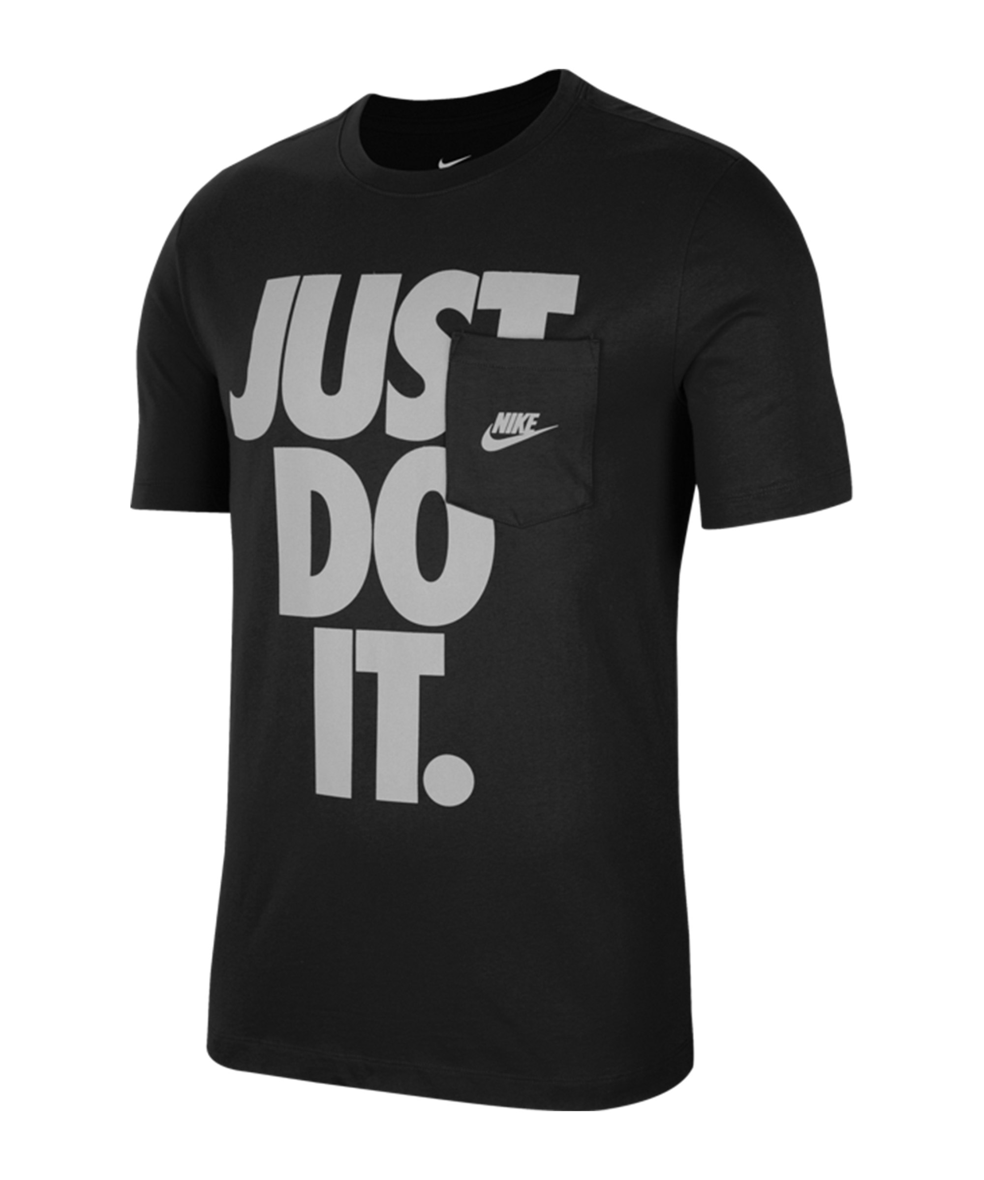 Nike Just Do It Pocket T-Shirt Schwarz F010 - schwarz