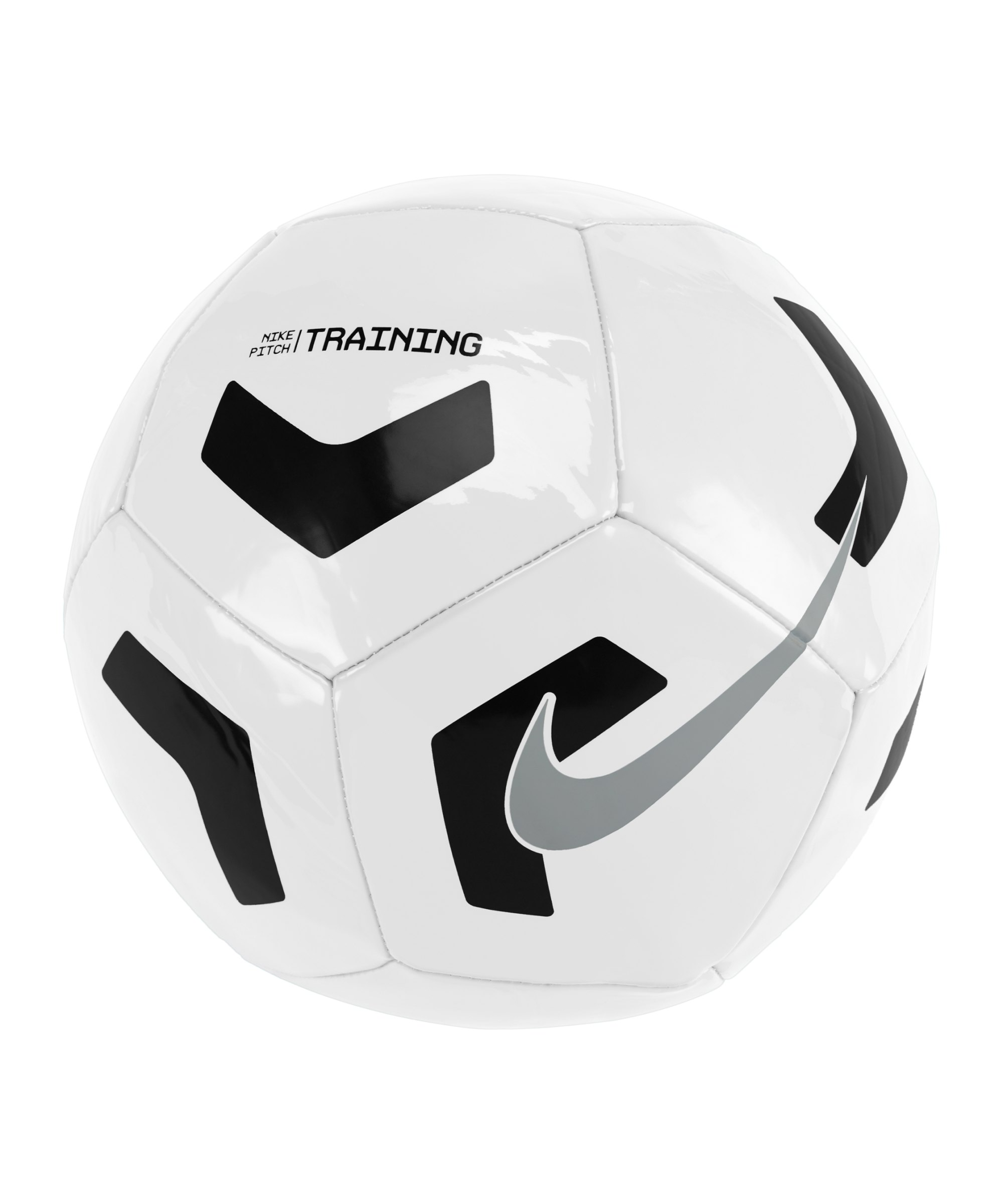 Nike Pitch Trainingsball Weiss Schwarz F100 - weiss