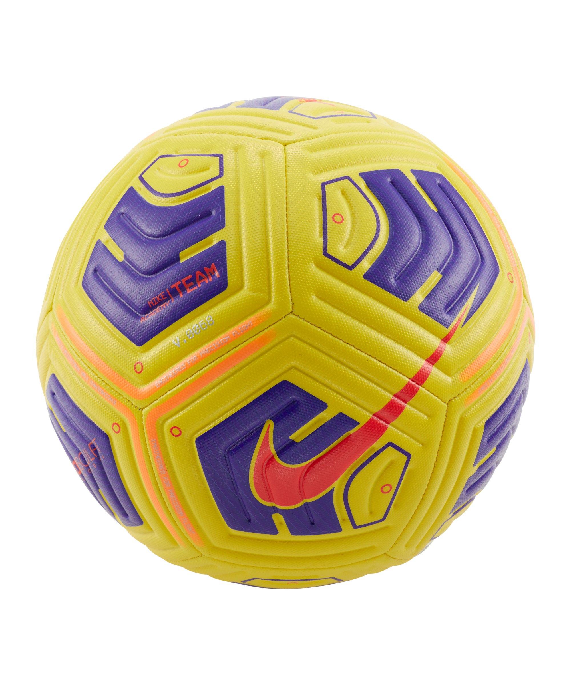 Nike Academy Team Trainingsball Gelb Lila F720 - gelb