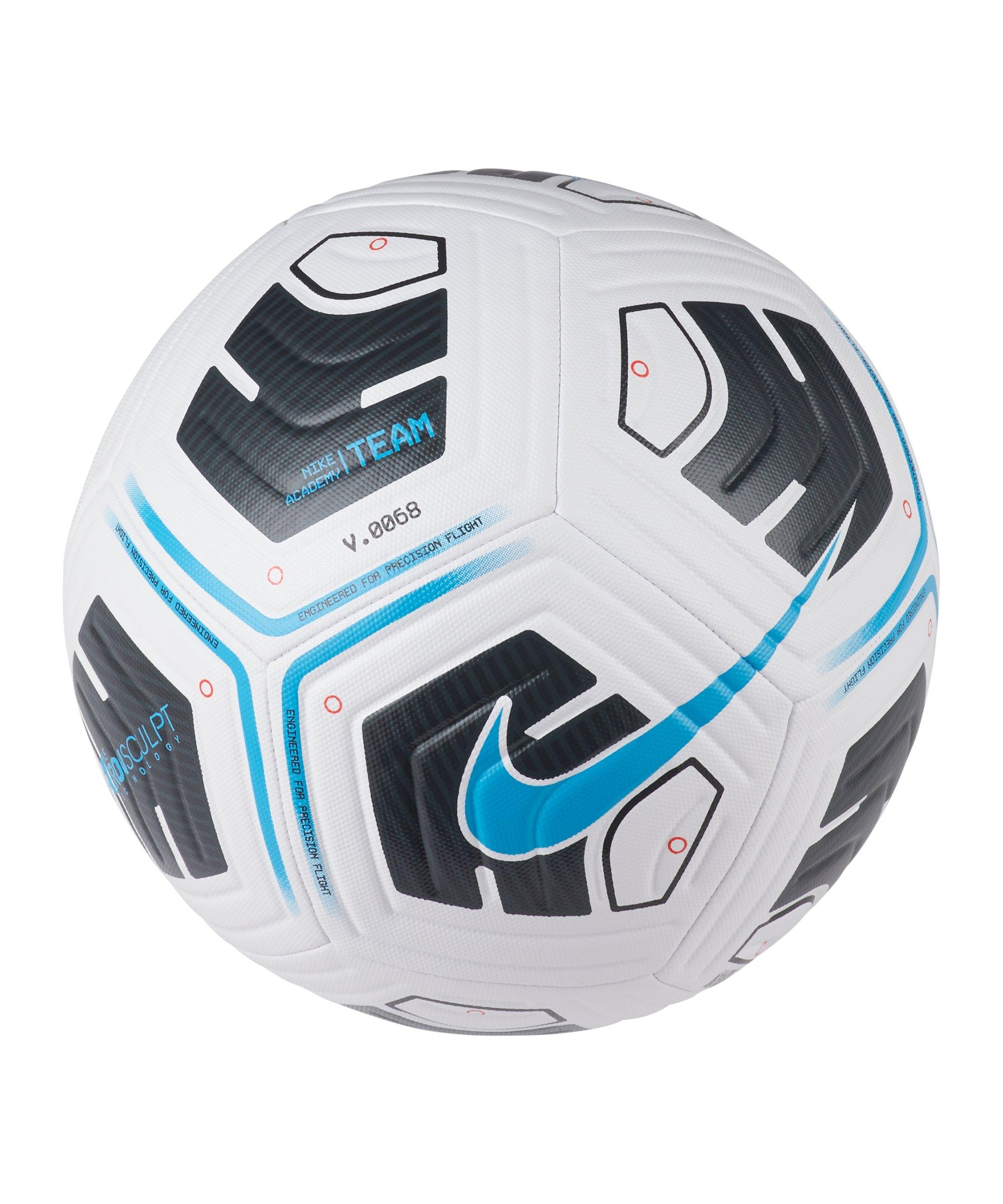 Nike Academy Team Trainingsball Weiss Blau F102 - weiss