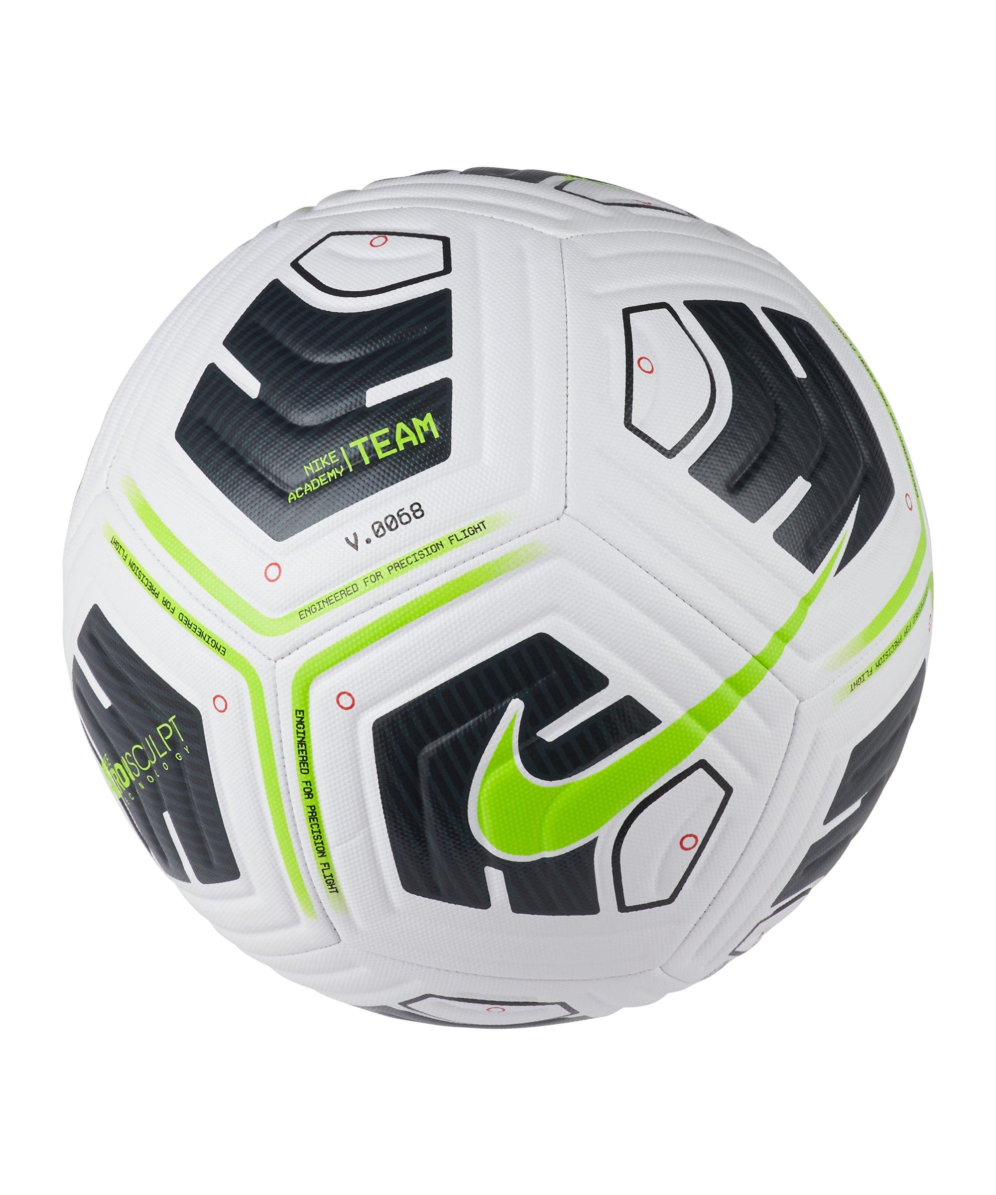 Nike Academy Team Trainingsball Weiss Grün F100 - weiss