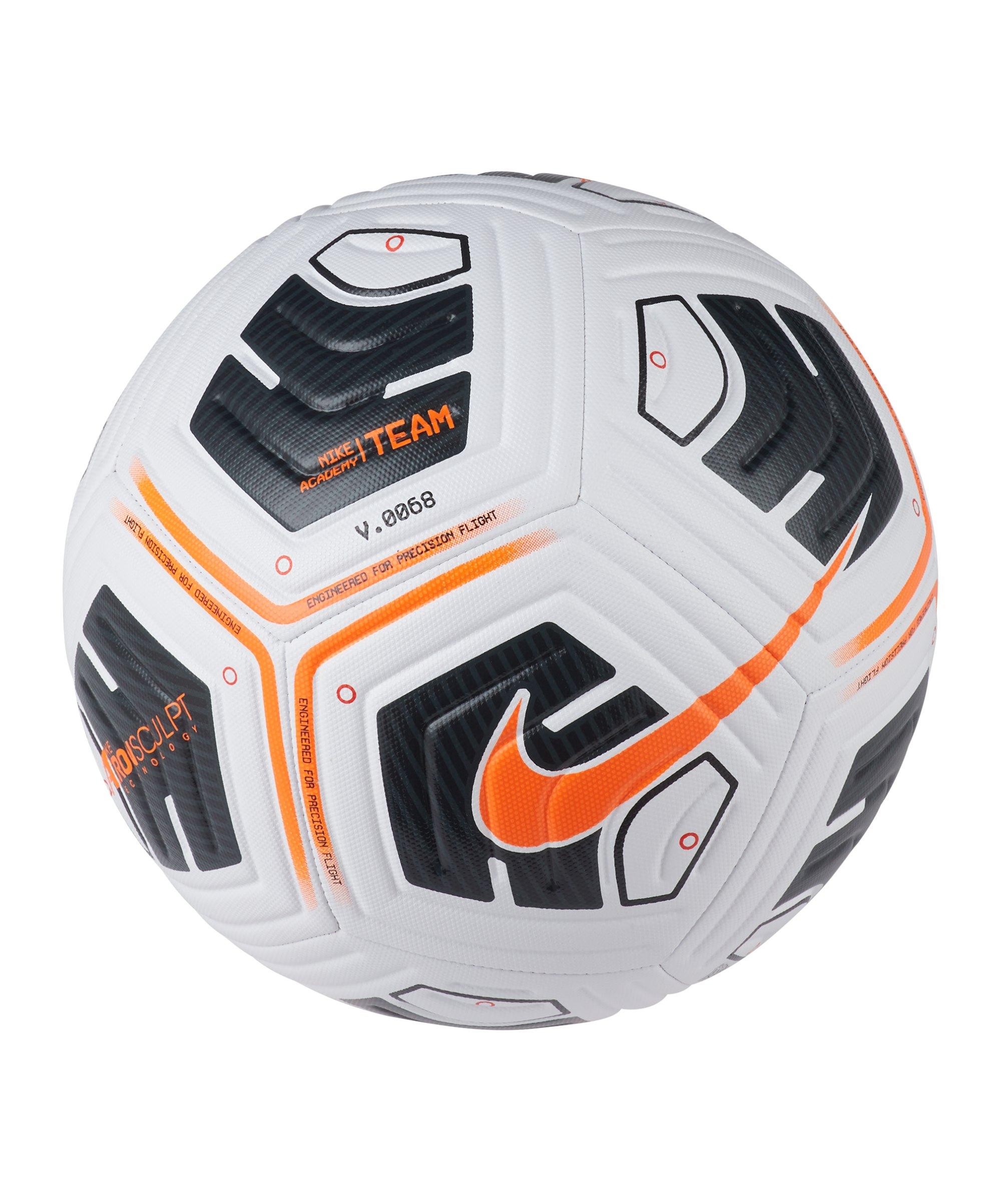 Nike Academy Team Trainingsball Weiss Orange F101 - weiss