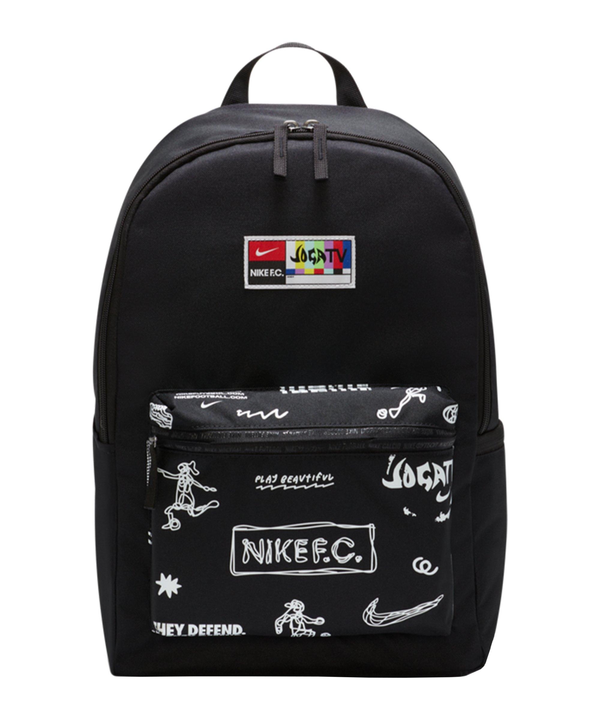 Nike F.C. Rucksack Joga Bonito Schwarz F010 - schwarz