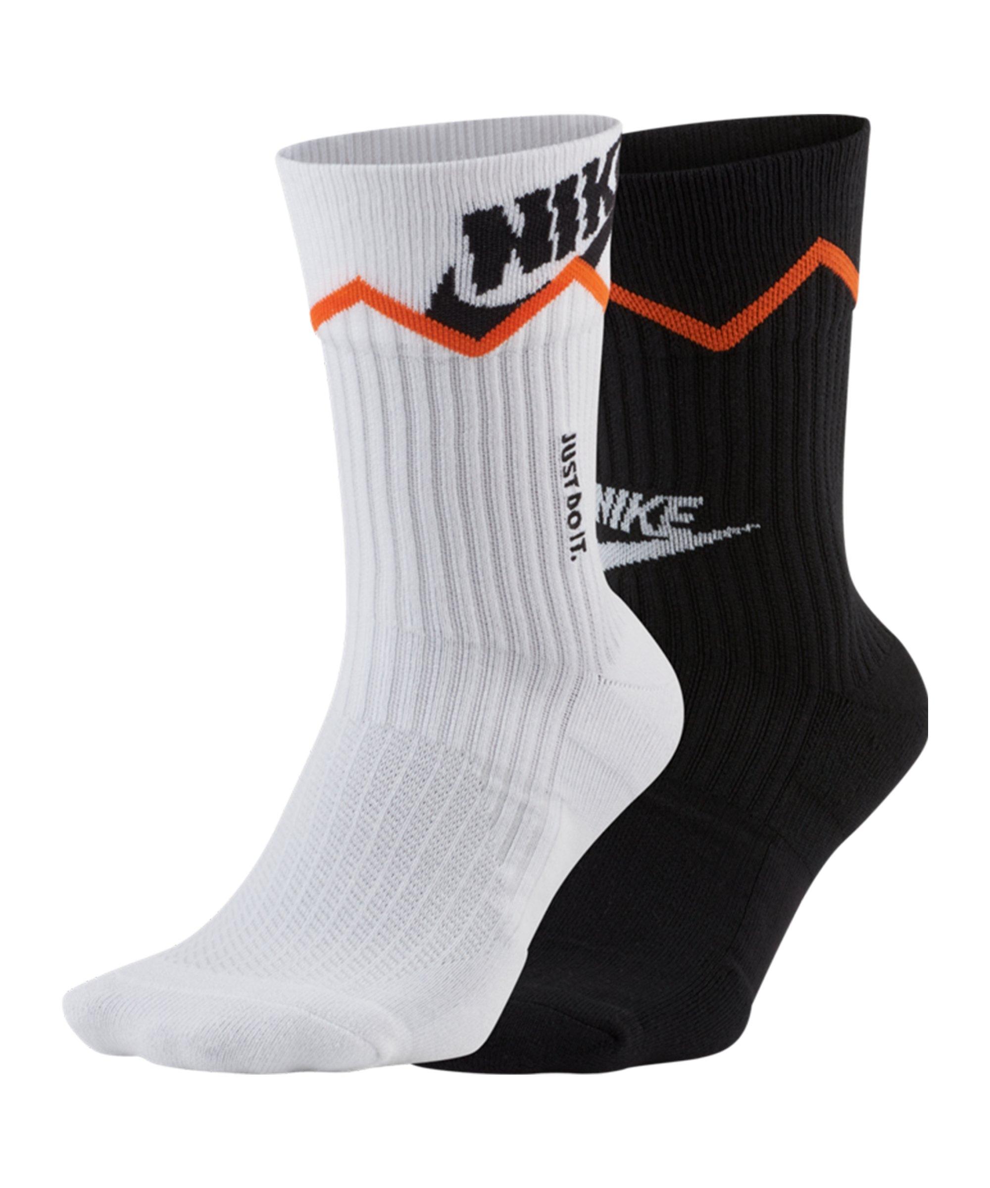 Nike Sneaker Crew 2er Pack Socken F902 - schwarz