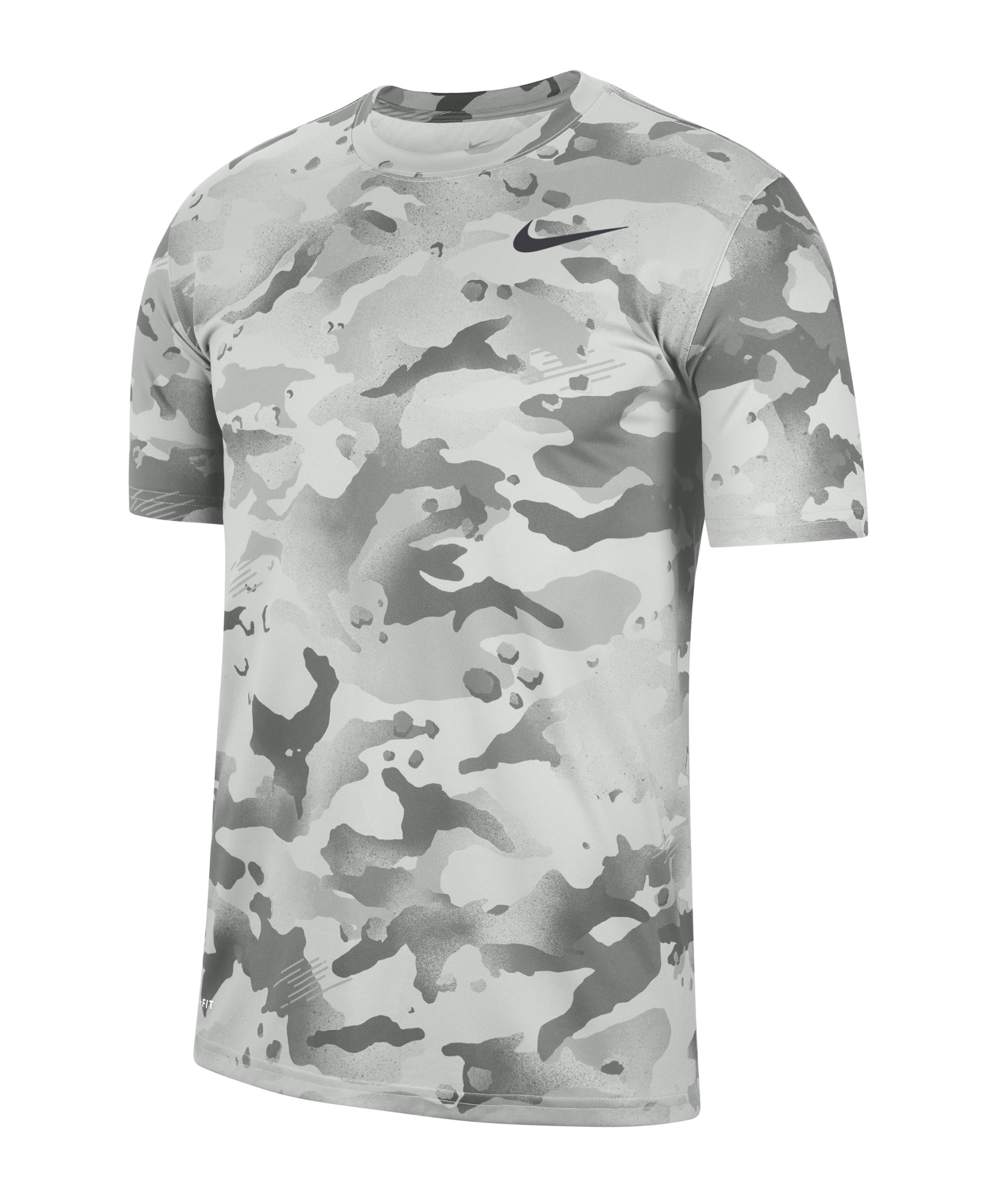 Nike Dry Camo AOP T-Shirt Grau Weiss F084 - grau