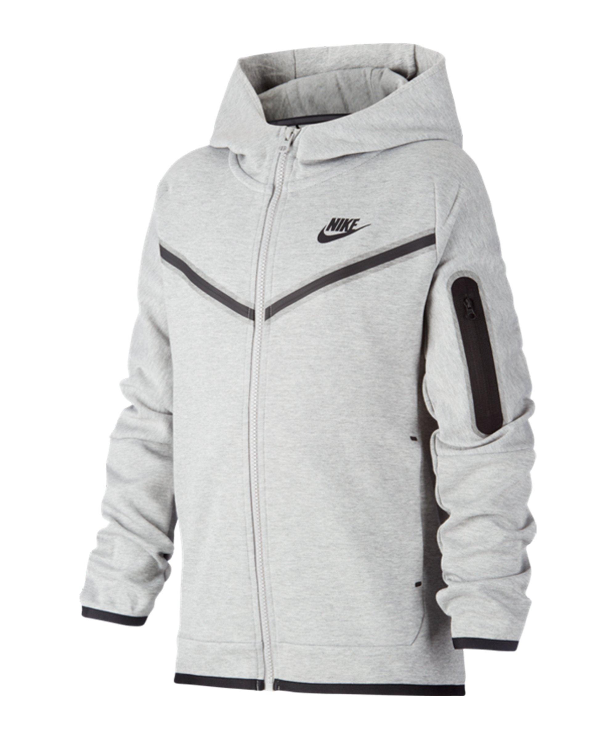 Nike Tech Fleece Jacke Kids Grau Schwarz F063 - grau