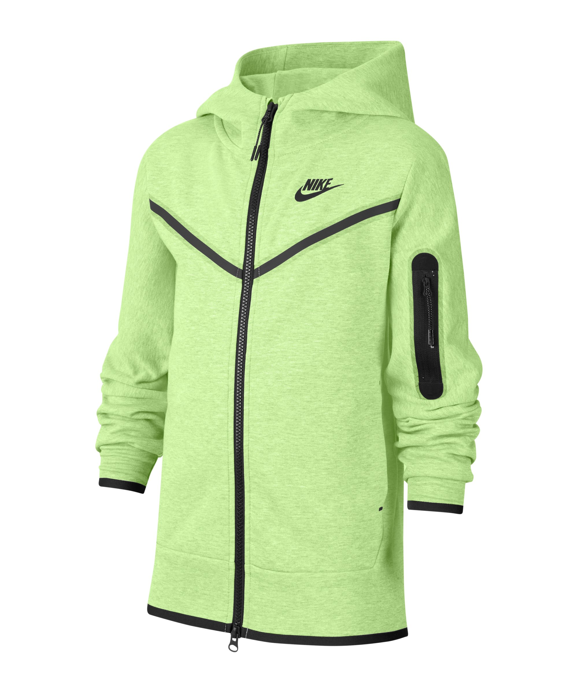 Nike Tech Fleece Jacke Kids Grün F383 - gruen