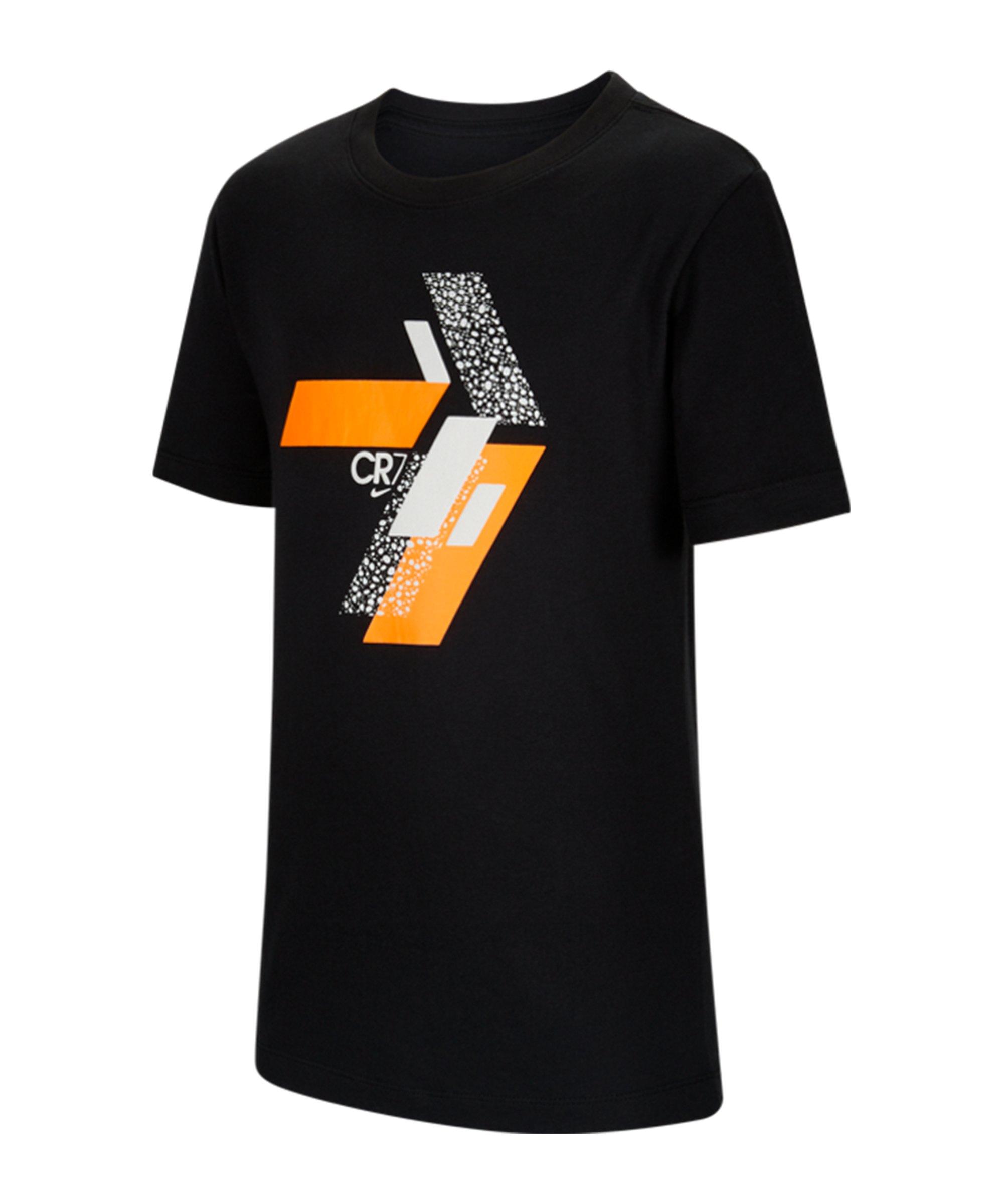Nike CR7 Hook T-Shirt Kids Schwarz F010 - schwarz