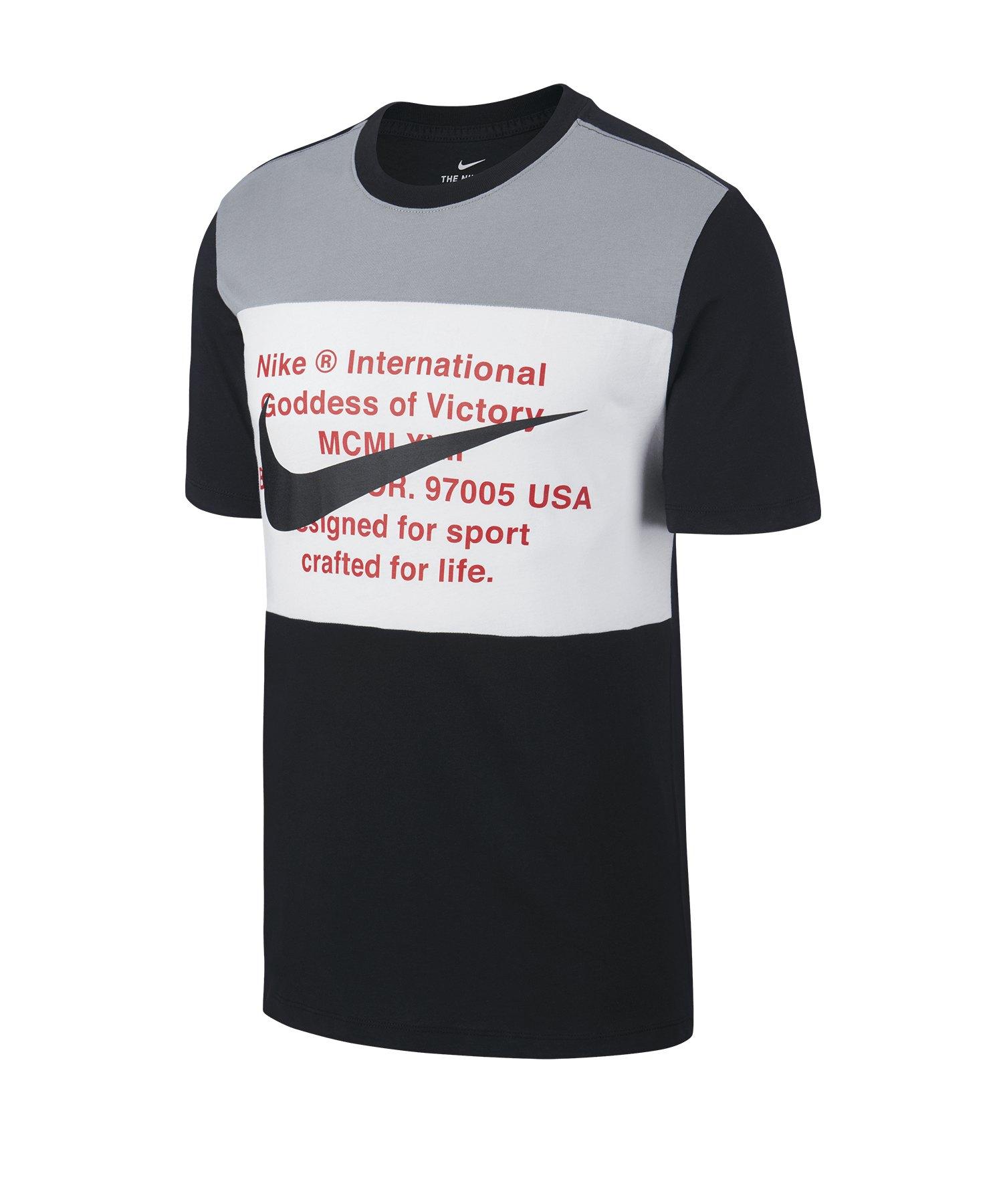 Nike Swoosh T-Shirt Tee Schwarz F013 - schwarz