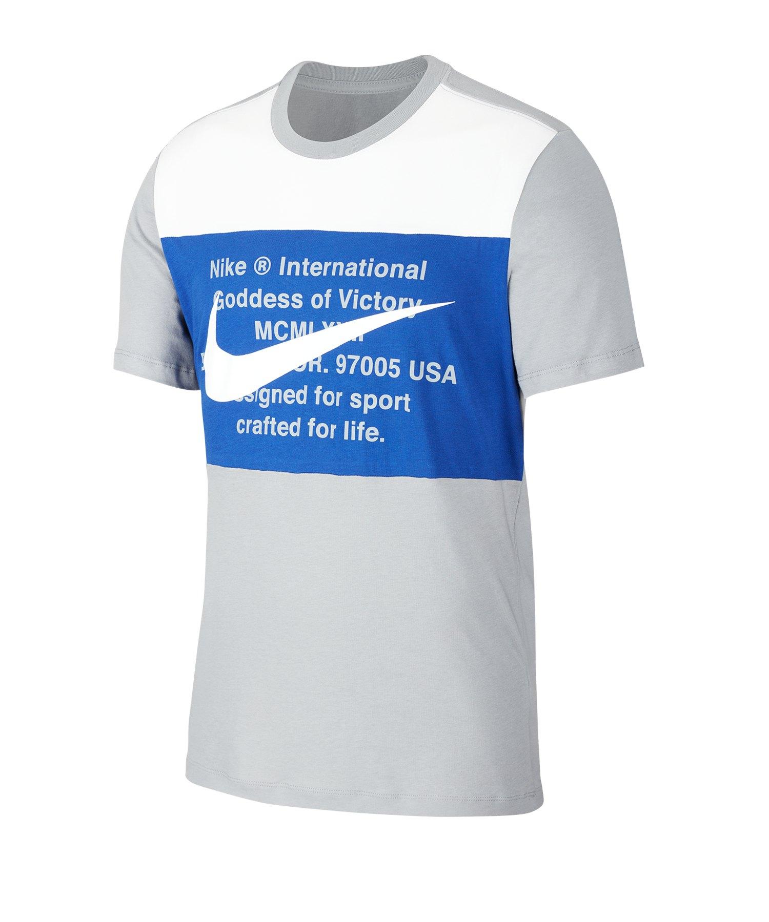Nike Swoosh Tee T-Shirt Grau F073 - grau