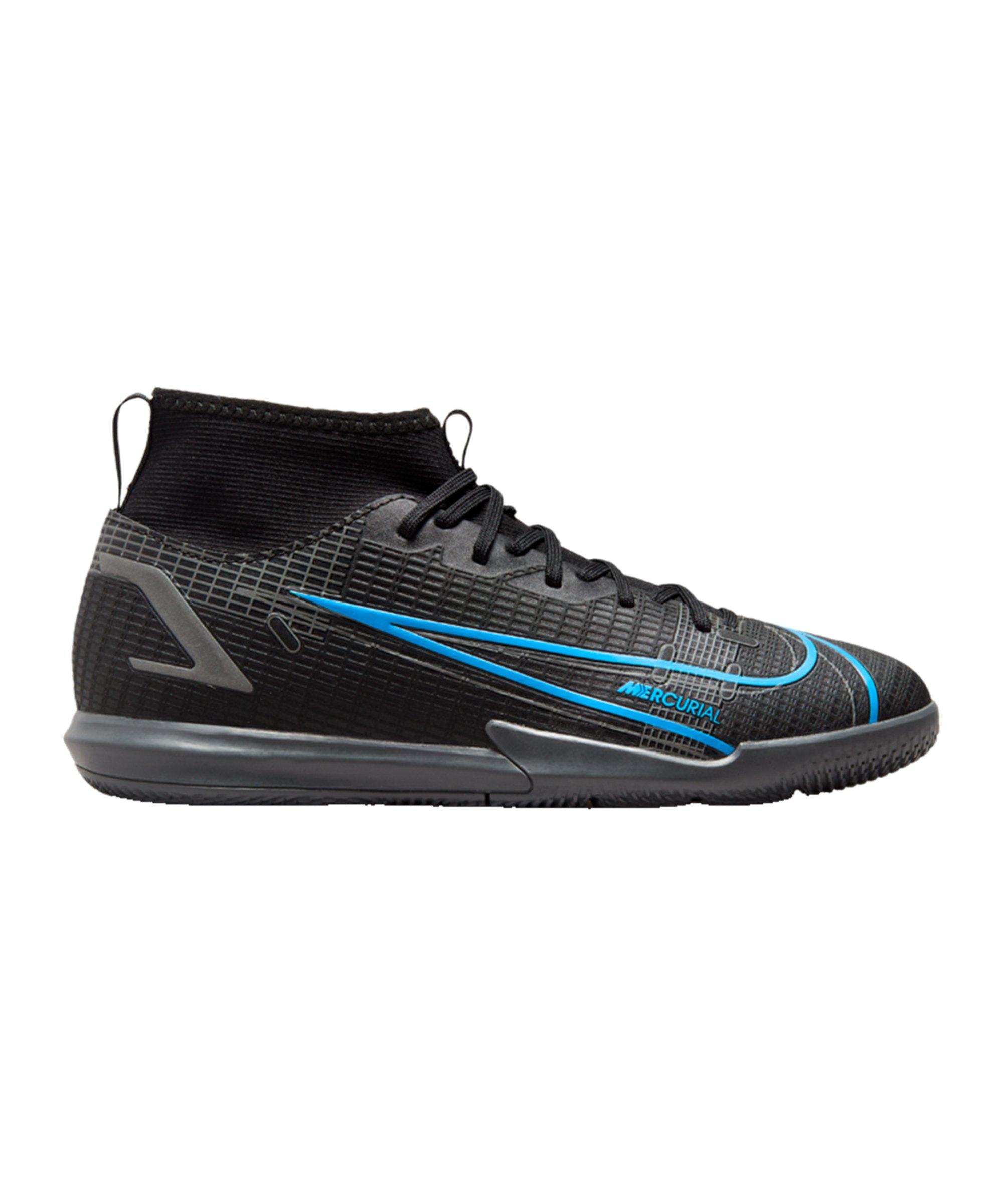 Nike Jr Mercurial Superfly VIII Renew Academy IC Kids Schwarz F004 - schwarz