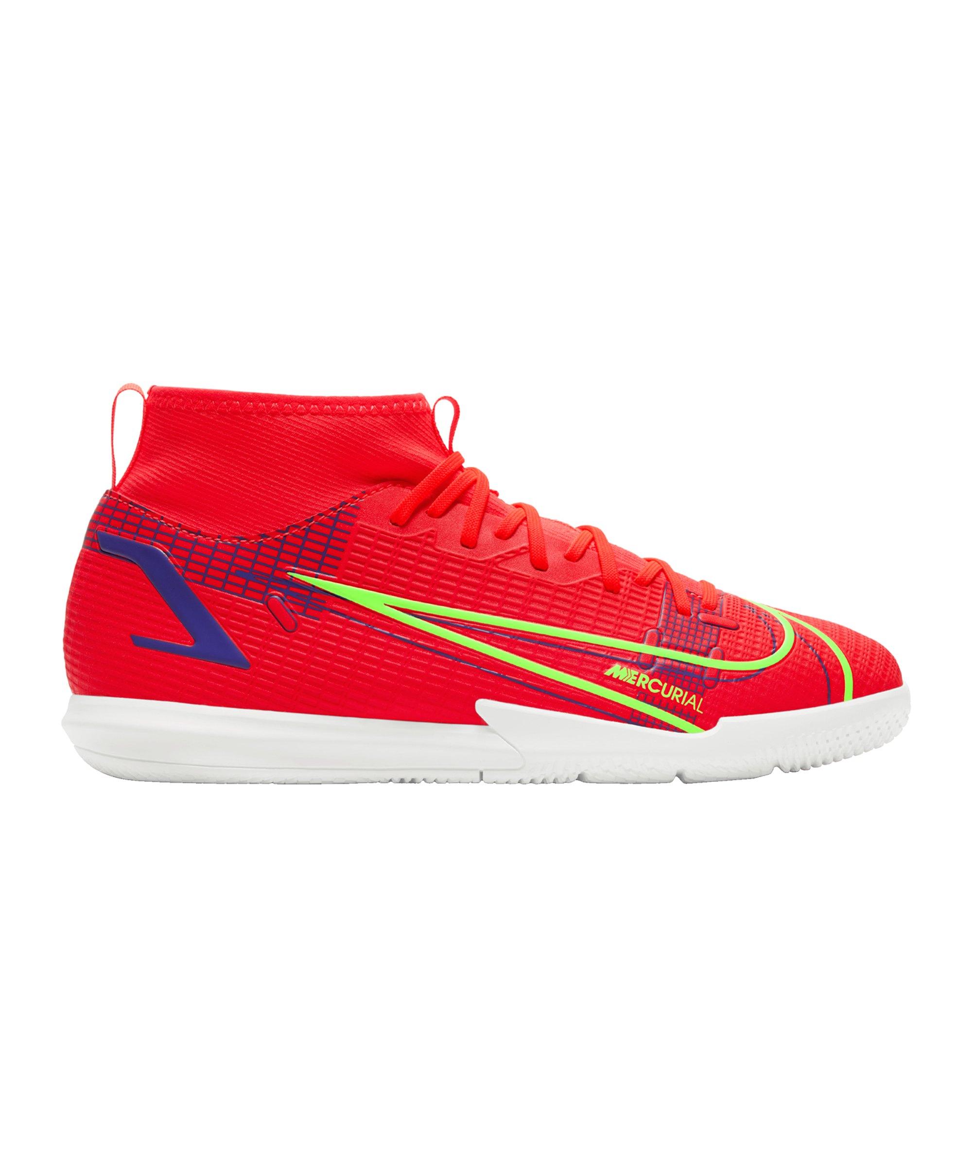 Nike Jr Mercurial Superfly VIII Spectrum Academy IC Kids Rot F600 - rot