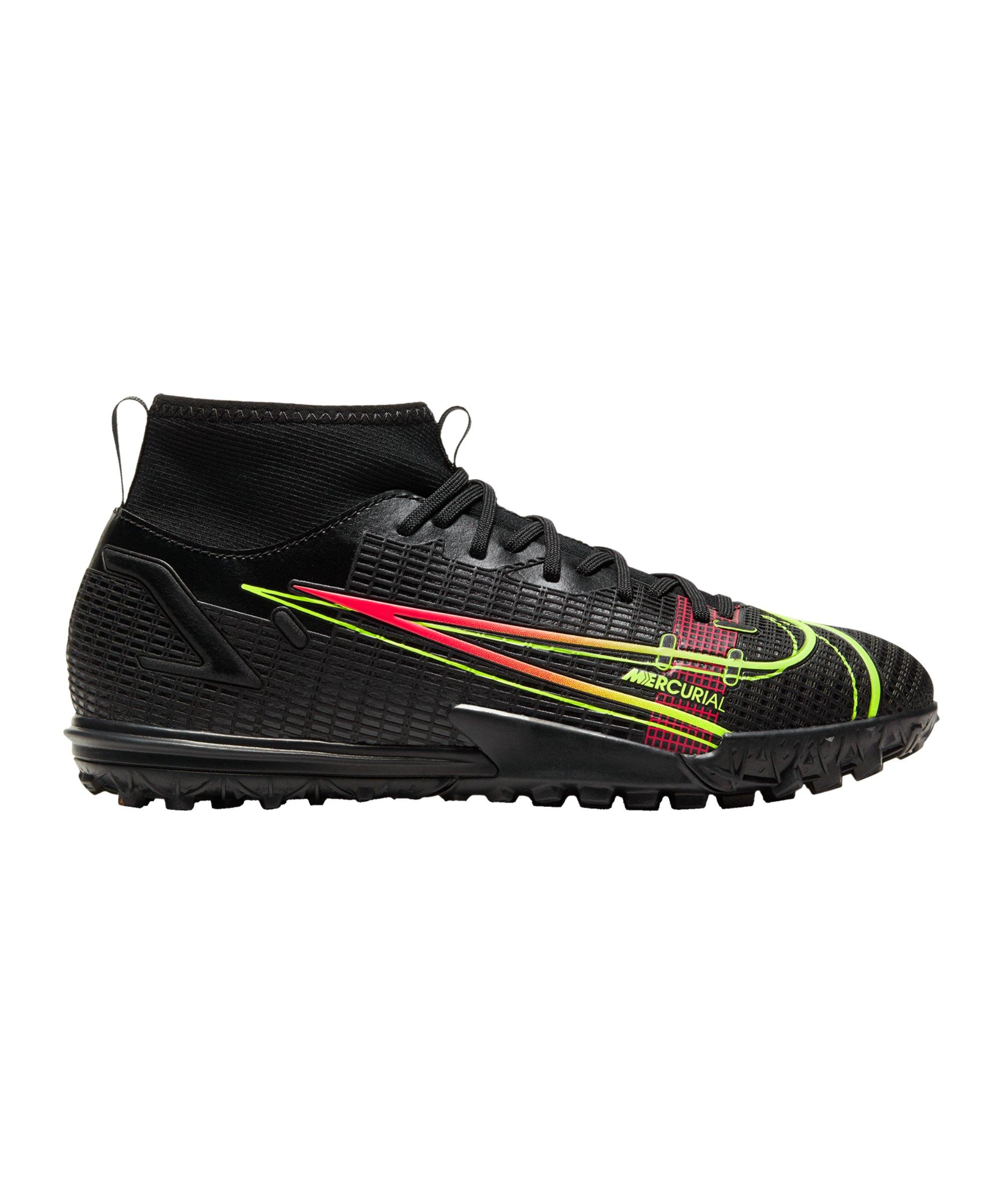 Nike Jr Mercurial Superfly VIII Black X Prism Academy TF Kids Schwarz F090 - schwarz