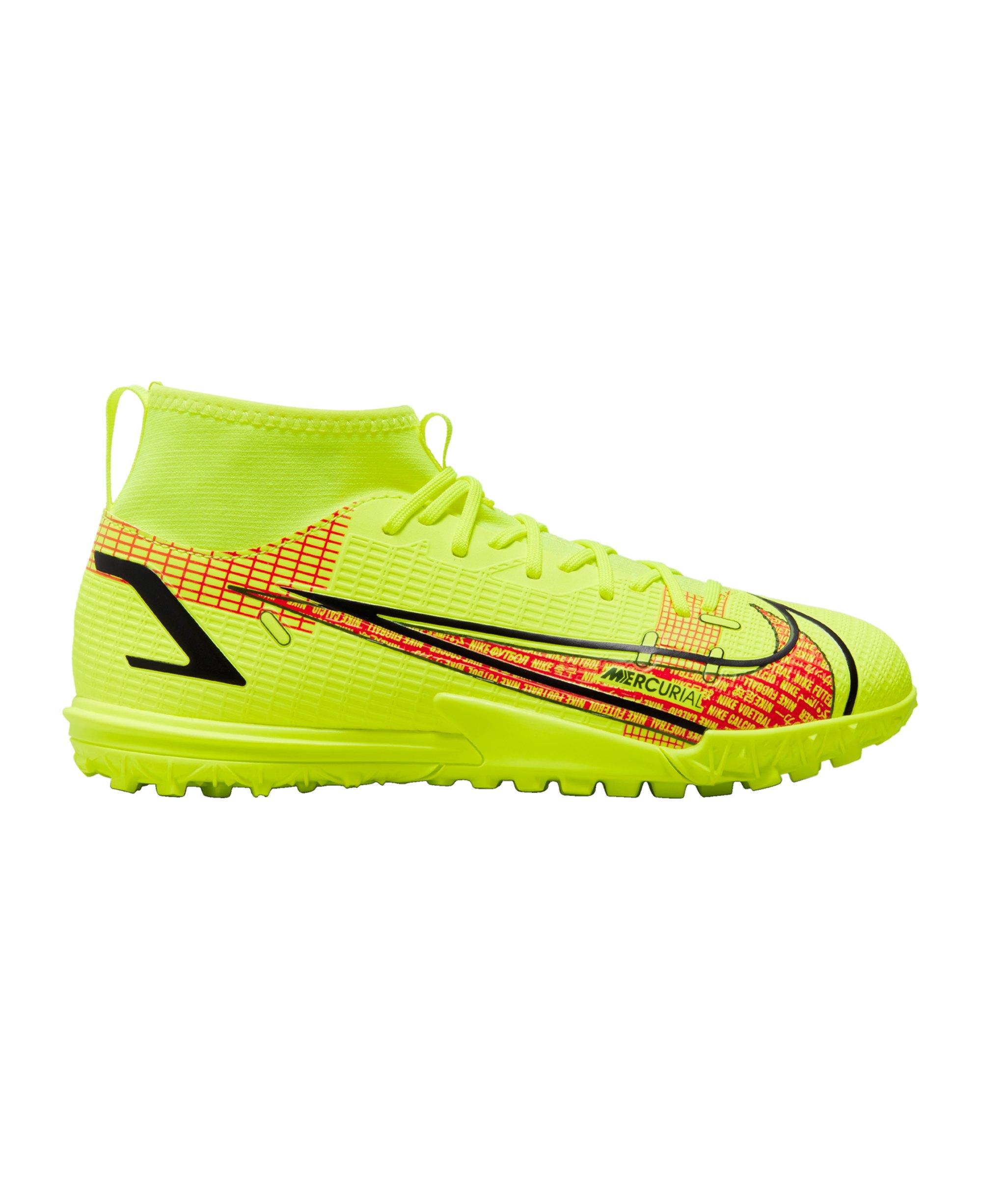 Nike Jr Mercurial Superfly VIII Motivation Academy TF Kids Gelb F760 - gelb