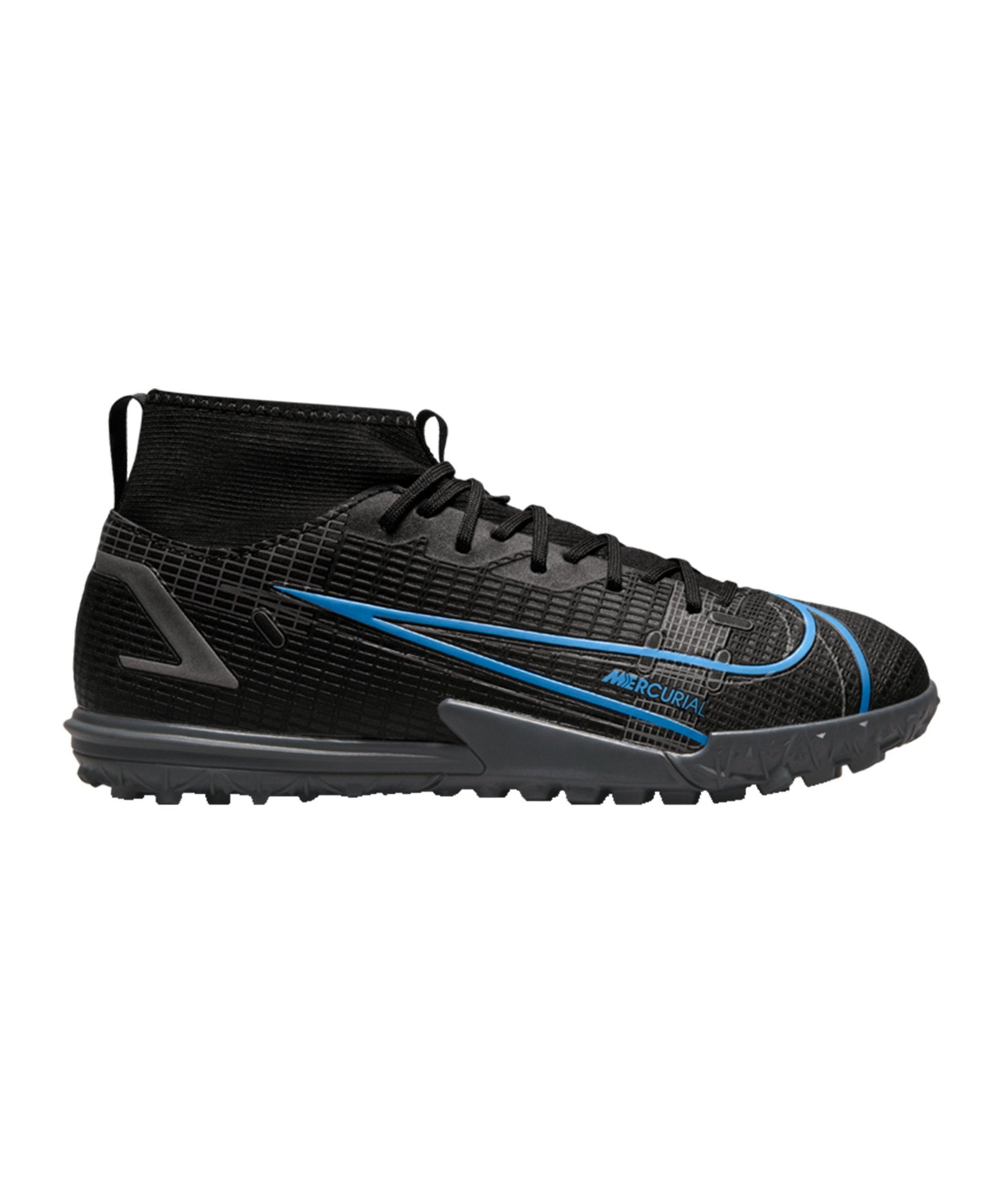 Nike Jr Mercurial Superfly VIII Renew Academy TF Kids Schwarz F004 - schwarz