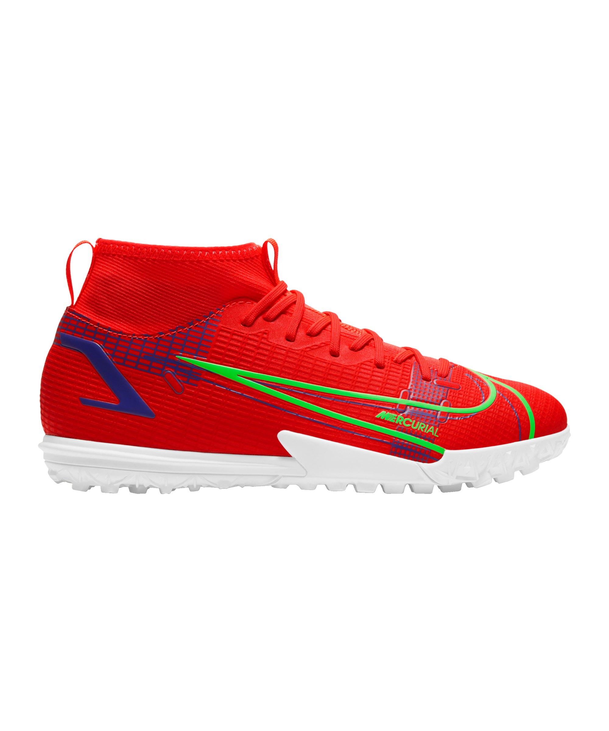 Nike Jr Mercurial Superfly VIII Spectrum Academy TF Kids Rot F600 - rot