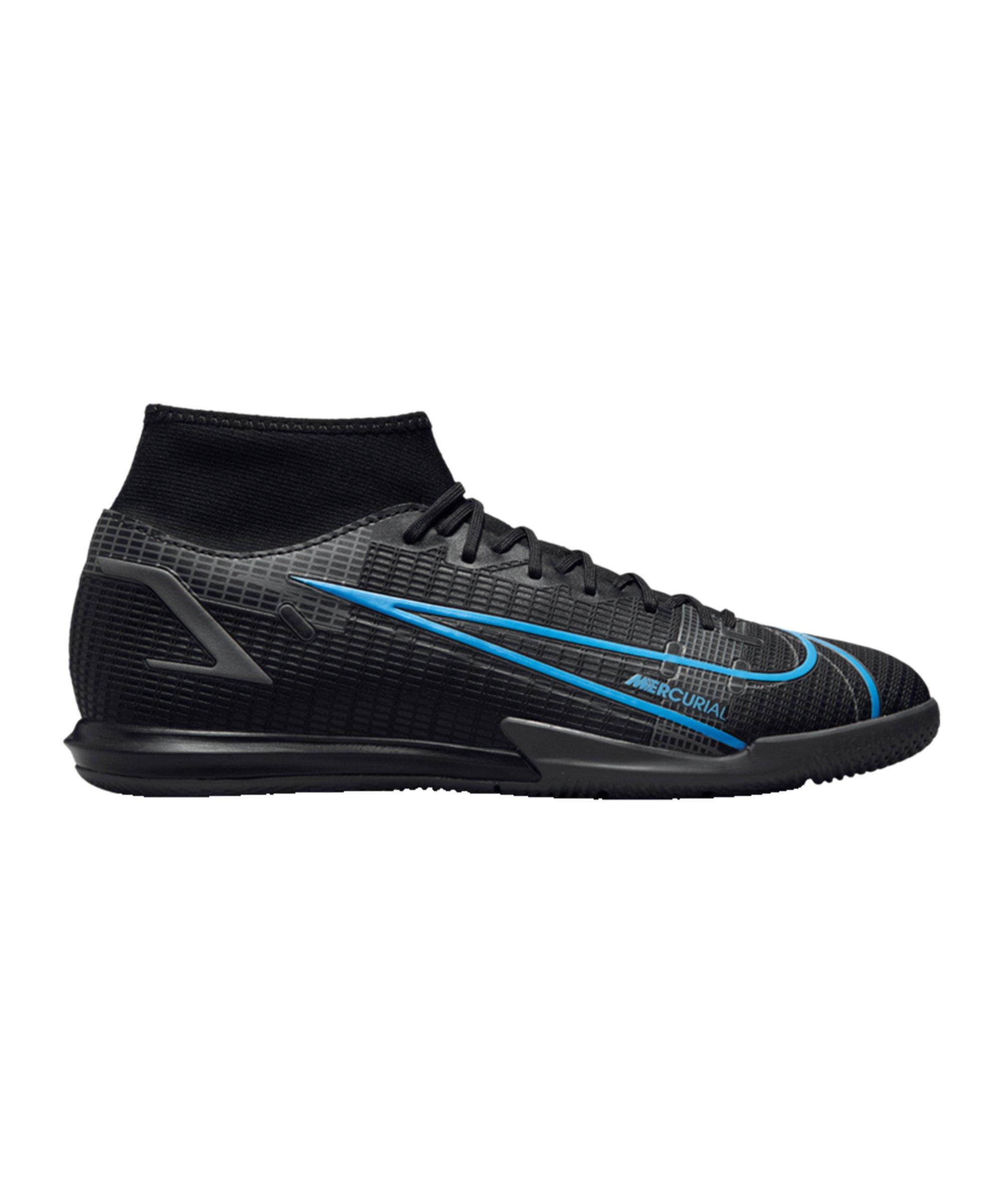 Nike Mercurial Superfly VIII Renew Academy IC Schwarz F004 - schwarz