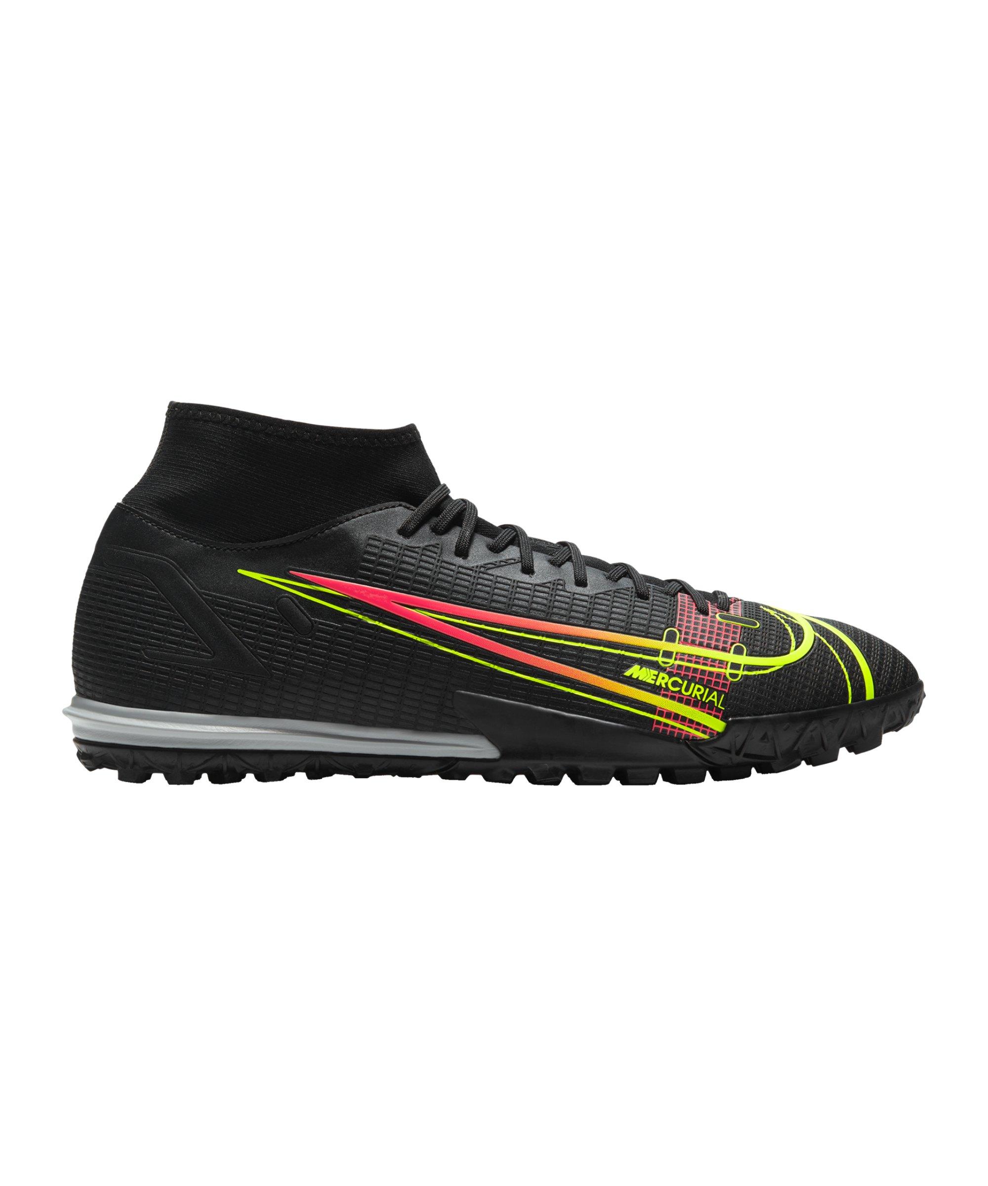 Nike Mercurial Superfly VIII Black X Prism Academy TF Schwarz F090 - schwarz