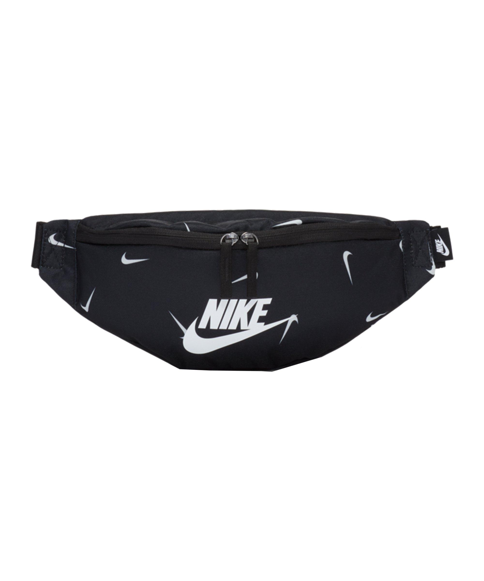 Nike Heritage AOP Hüfttasche Schwarz F010 - schwarz