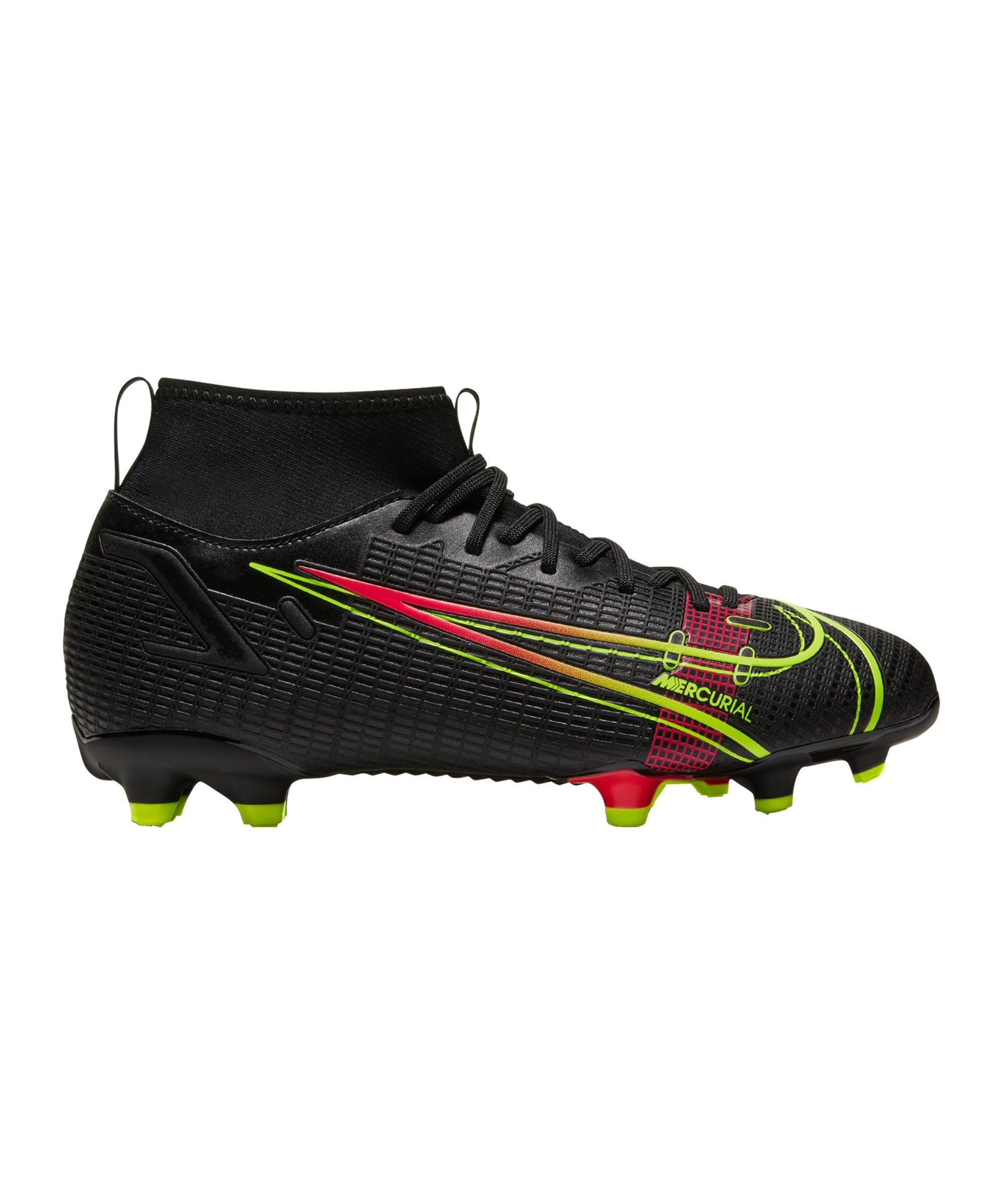 Nike Jr Mercurial Superfly VIII Black X Prism Academy FG/MG Kids Schwarz F090 - schwarz