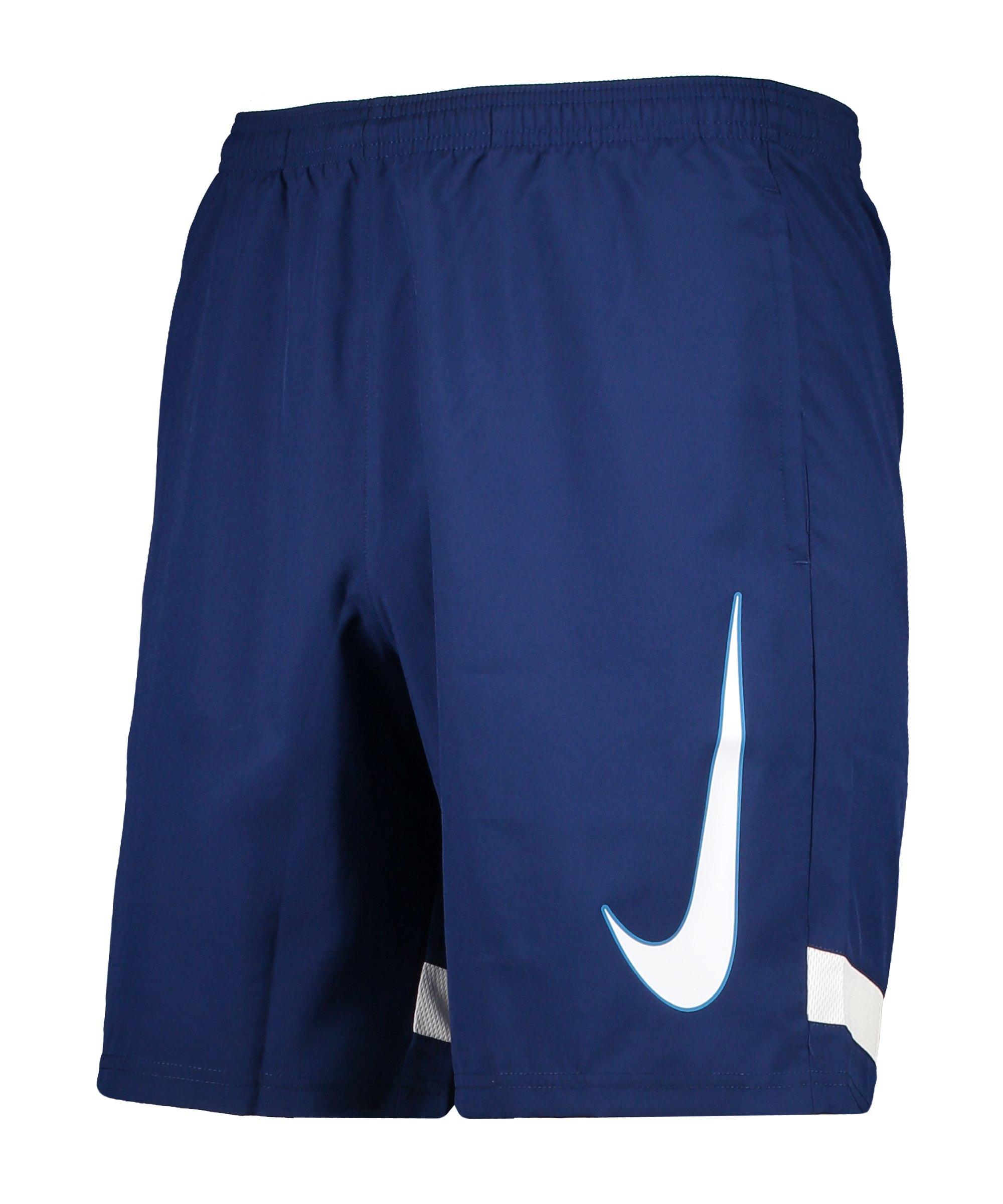 Nike Academy Short Blau Schwarz F492 - blau