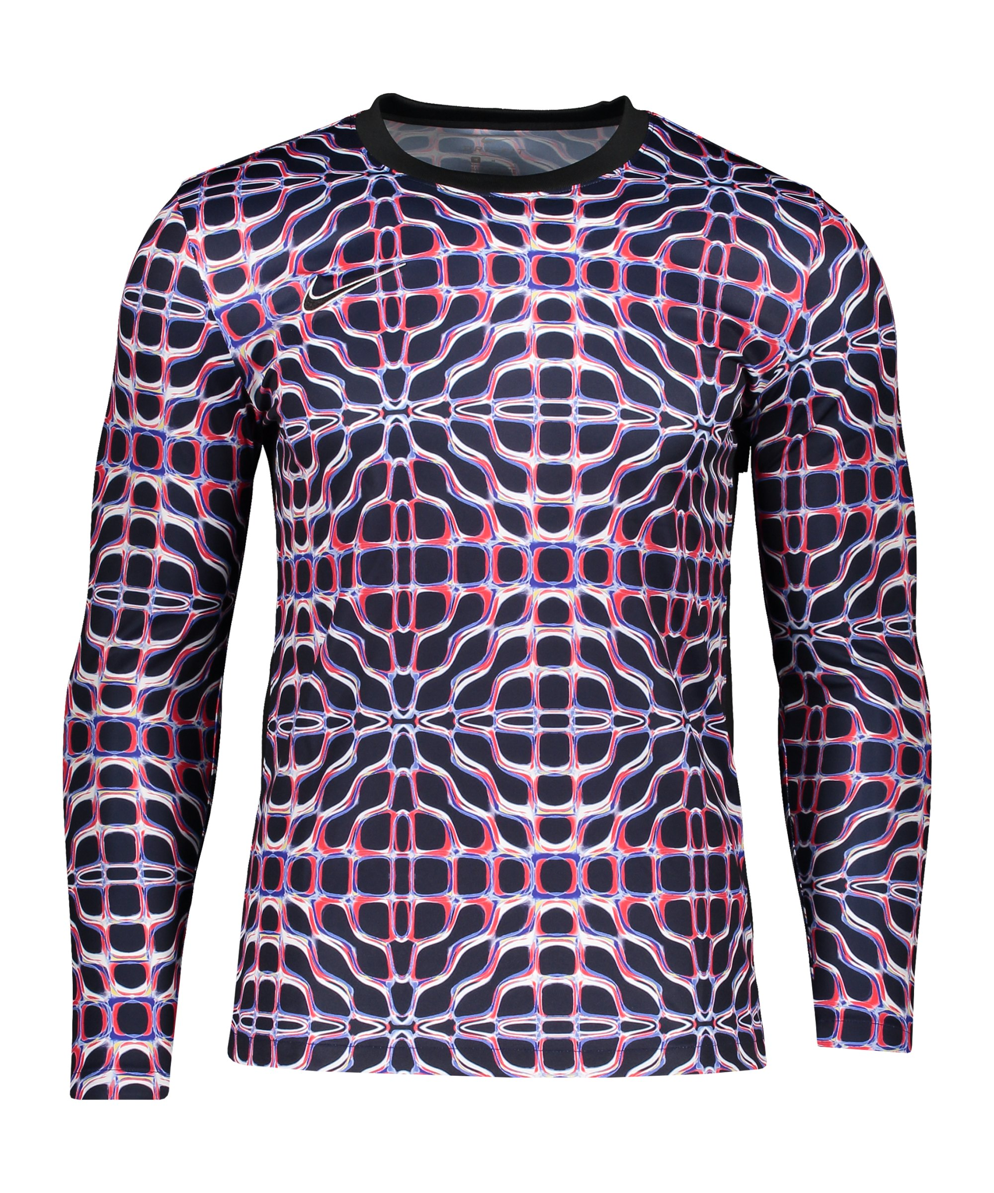 Nike Dri-Fit Academy Shirt langarm Blau Rot F498 - pink